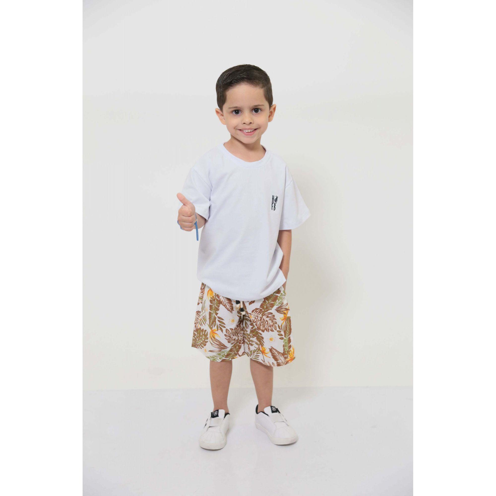 PAI E FILHO > 02 T-Shirts - Branca  [Coleção Tal Pai Tal Filho]  - Heitor Fashion Brazil