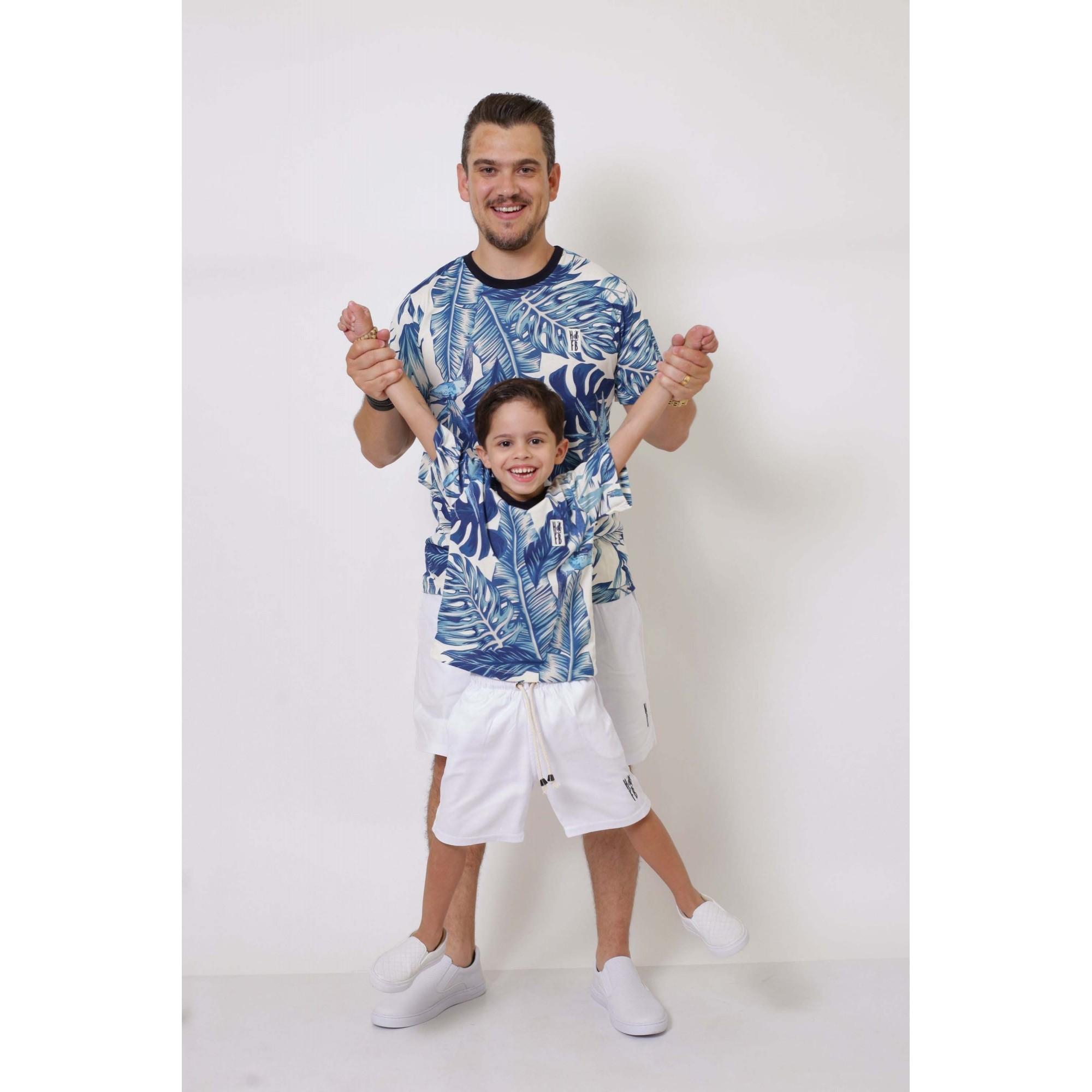 PAI E FILHO > 02 T-Shirts - Caribe  [Coleção Tal Pai Tal Filho]  - Heitor Fashion Brazil