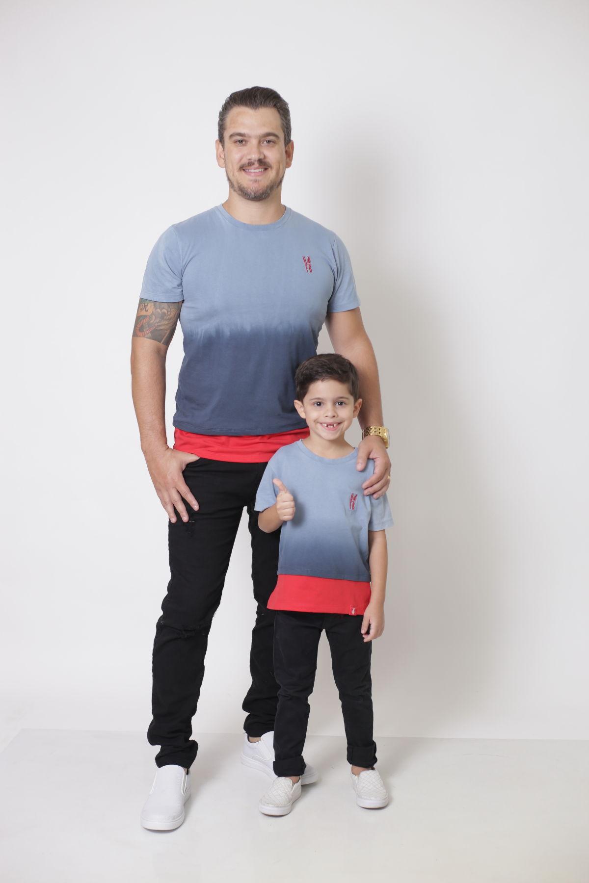 PAI E FILHO > 02 T-Shirts - Degradê [Coleção Tal Pai Tal Filho]