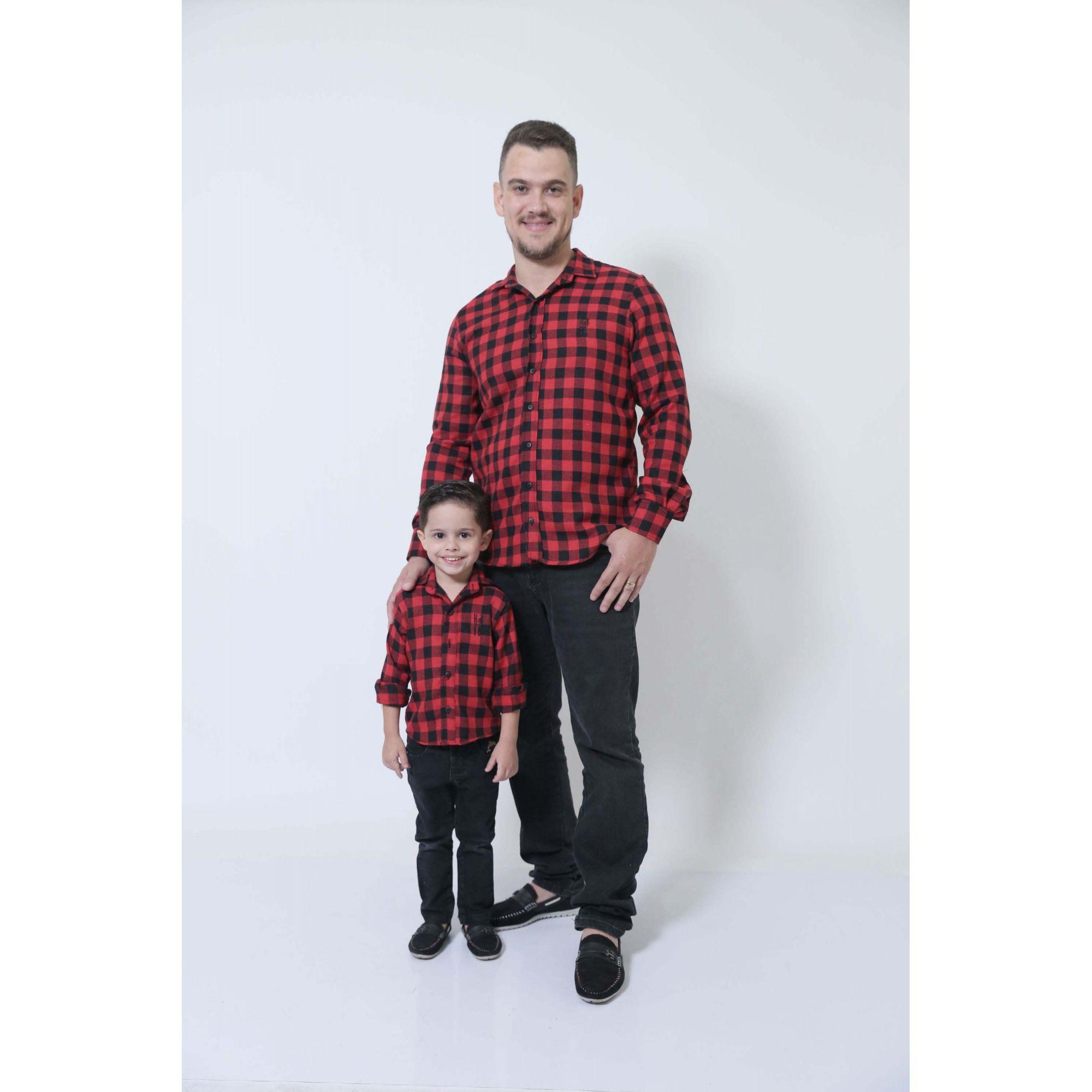 PAI E FILHO > Camisas Social Xadrez Lenhador [Coleção Tal Pai Tal Filho]