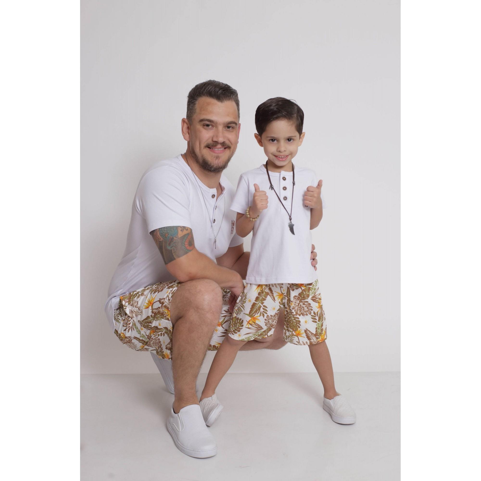 PAI E FILHO > Kit 02 Bermudas Amazonas [Coleção Tal Pai Tal Filho]  - Heitor Fashion Brazil