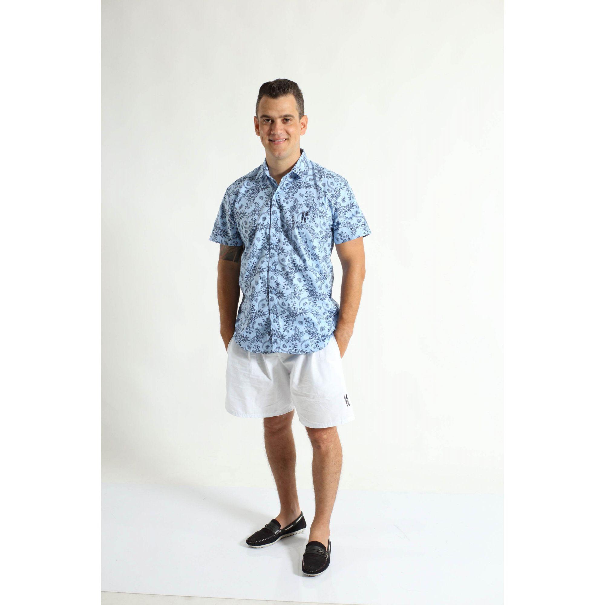 PAI E FILHO > Kit 02 Bermudas Branca  [Coleção Tal Pai Tal Filho]  - Heitor Fashion Brazil