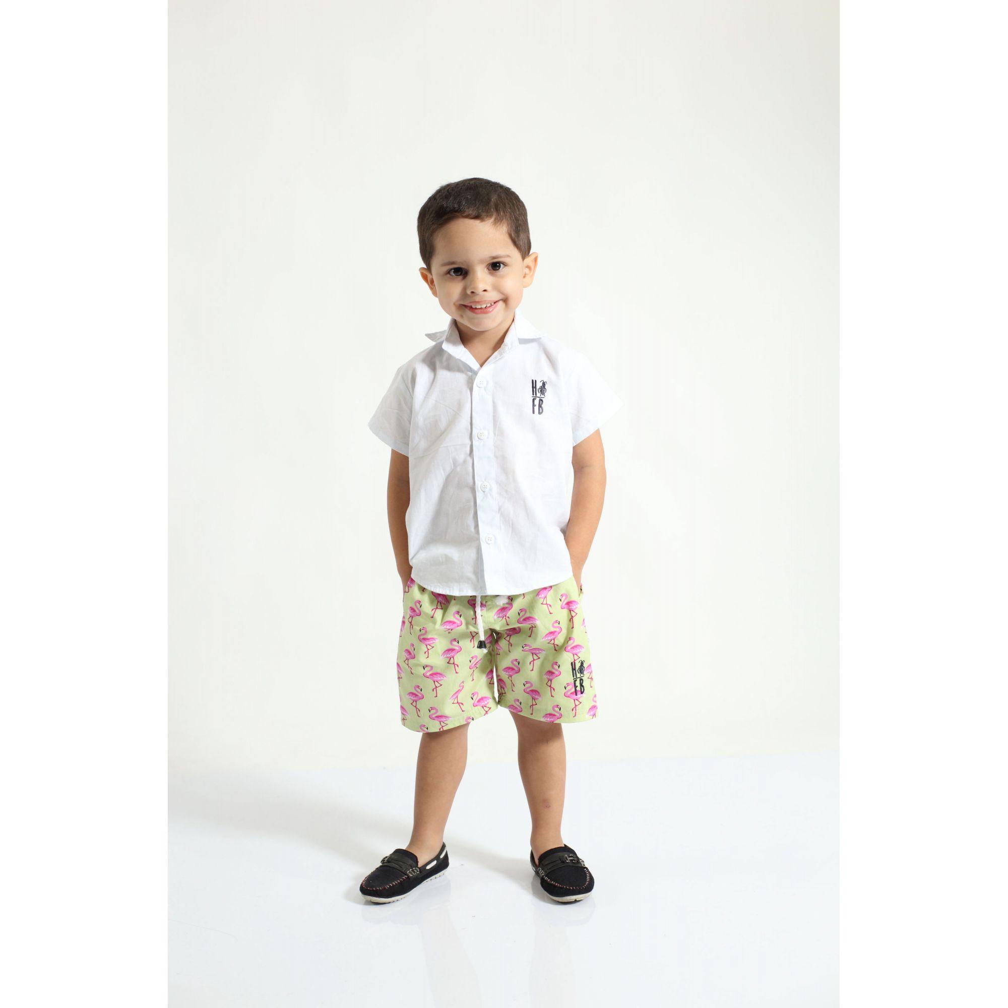 PAI E FILHO > Kit 02 Bermudas Flamingo  [Coleção Tal Pai Tal Filho]  - Heitor Fashion Brazil