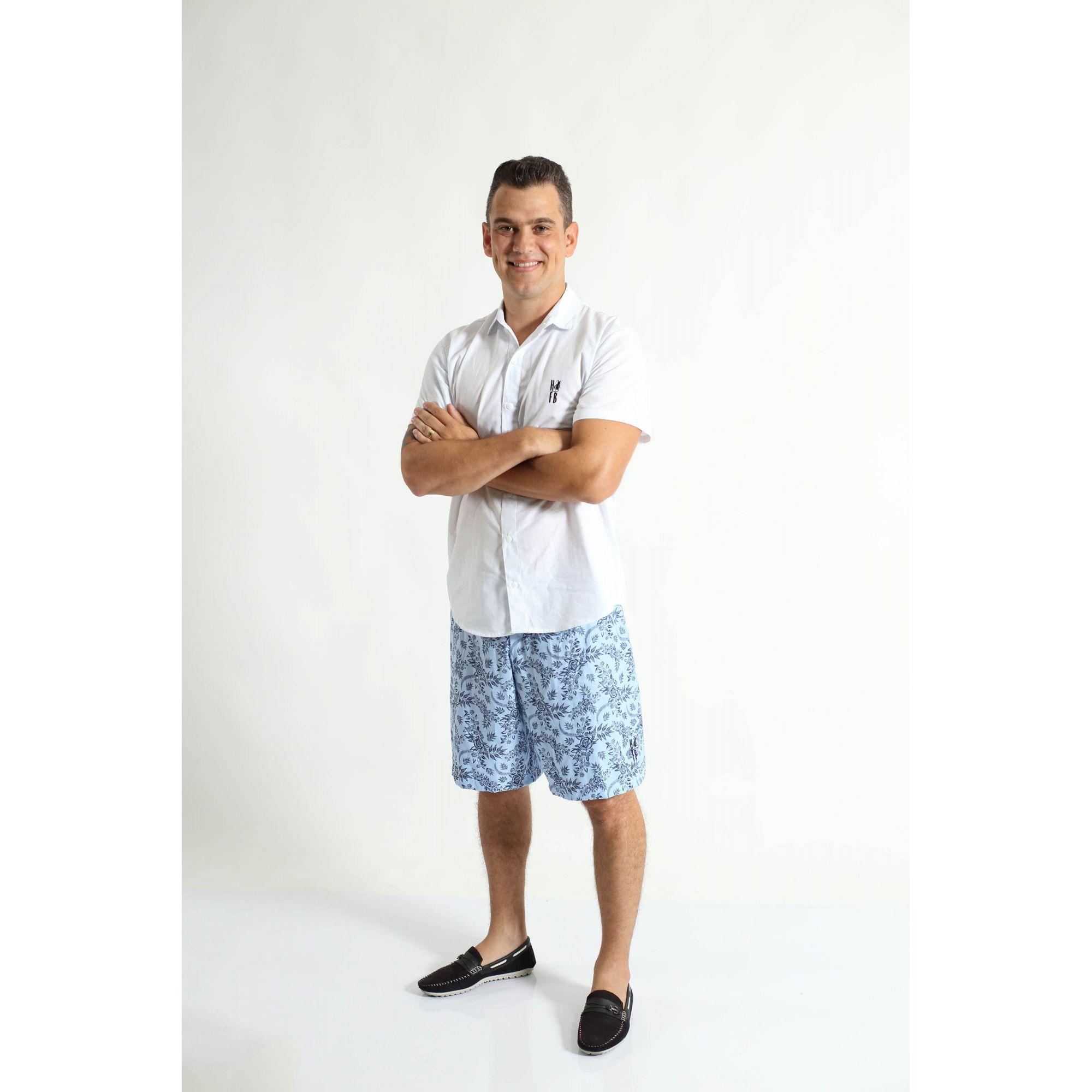 PAI E FILHO > Kit 02 Bermudas Floral  [Coleção Tal Pai Tal Filho]  - Heitor Fashion Brazil