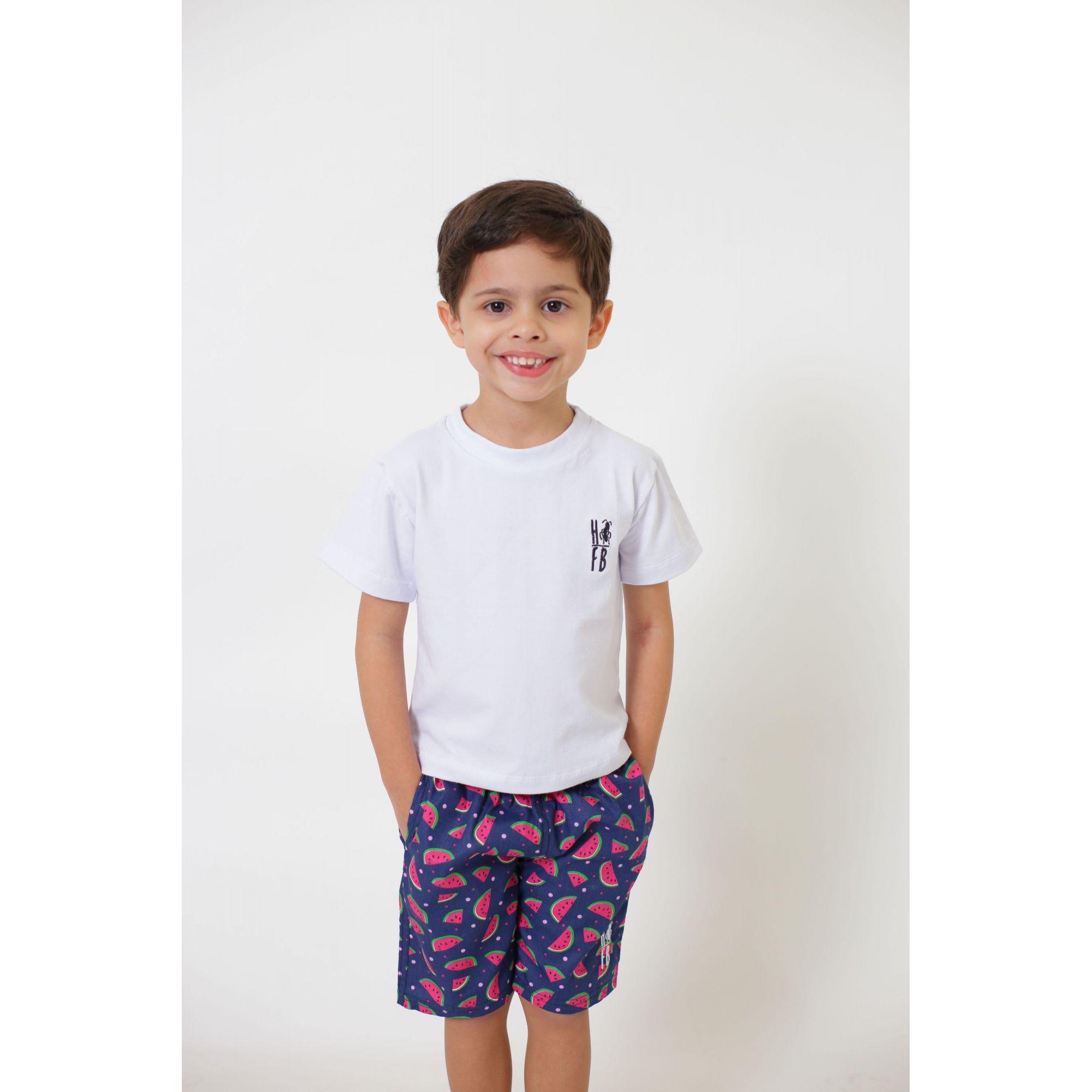 PAI E FILHO > Kit 02 Bermudas Melancia  [Coleção Tal Pai Tal Filho]  - Heitor Fashion Brazil