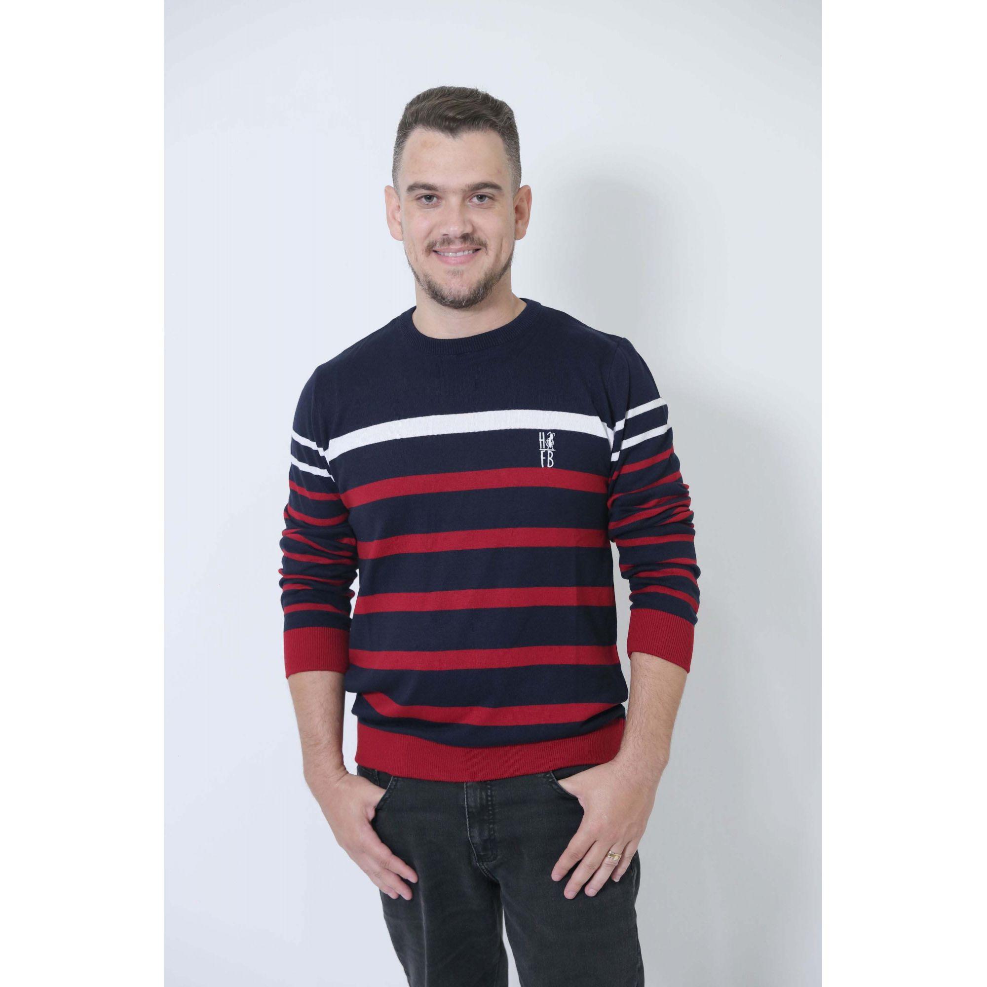 PAI E FILHO > Kit 02 Blusas Suéter Listrado [Coleção Tal Pai Tal Filho]  - Heitor Fashion Brazil