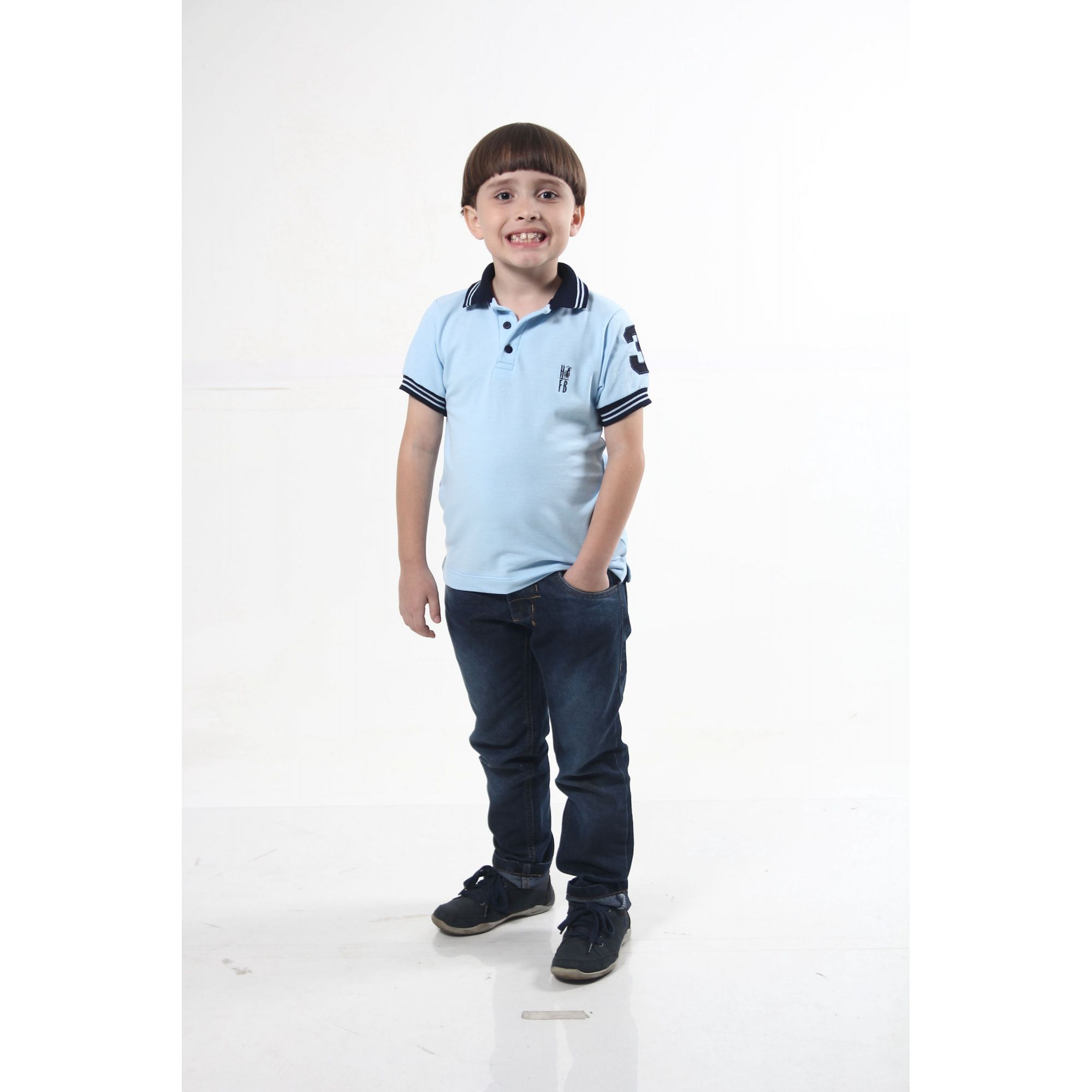 PAI E FILHO > Kit 02 Camisas Polo Azul Nobreza [Coleção Tal Pai Tal Filho]  - Heitor Fashion Brazil