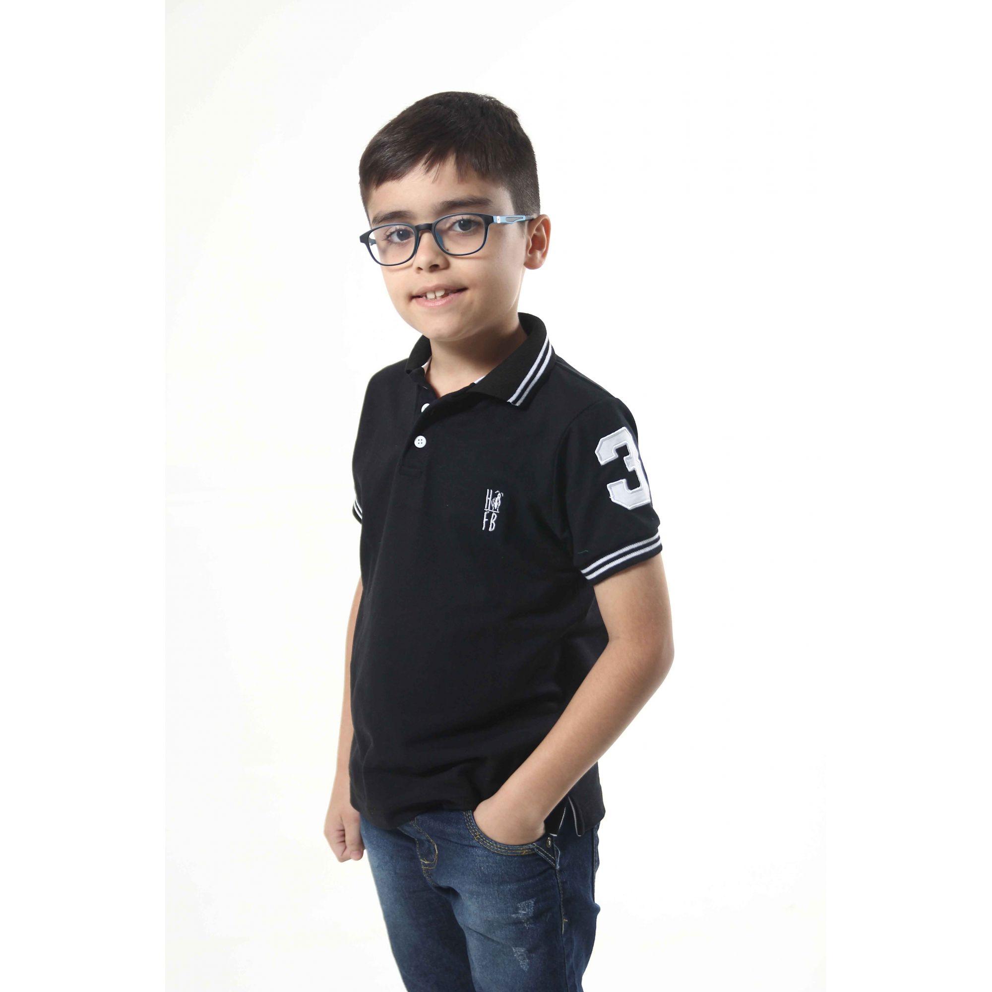 PAI E FILHO > Kit 02 Camisas ou Body Polo Preto Elegância  [Coleção Tal Pai Tal Filho]  - Heitor Fashion Brazil