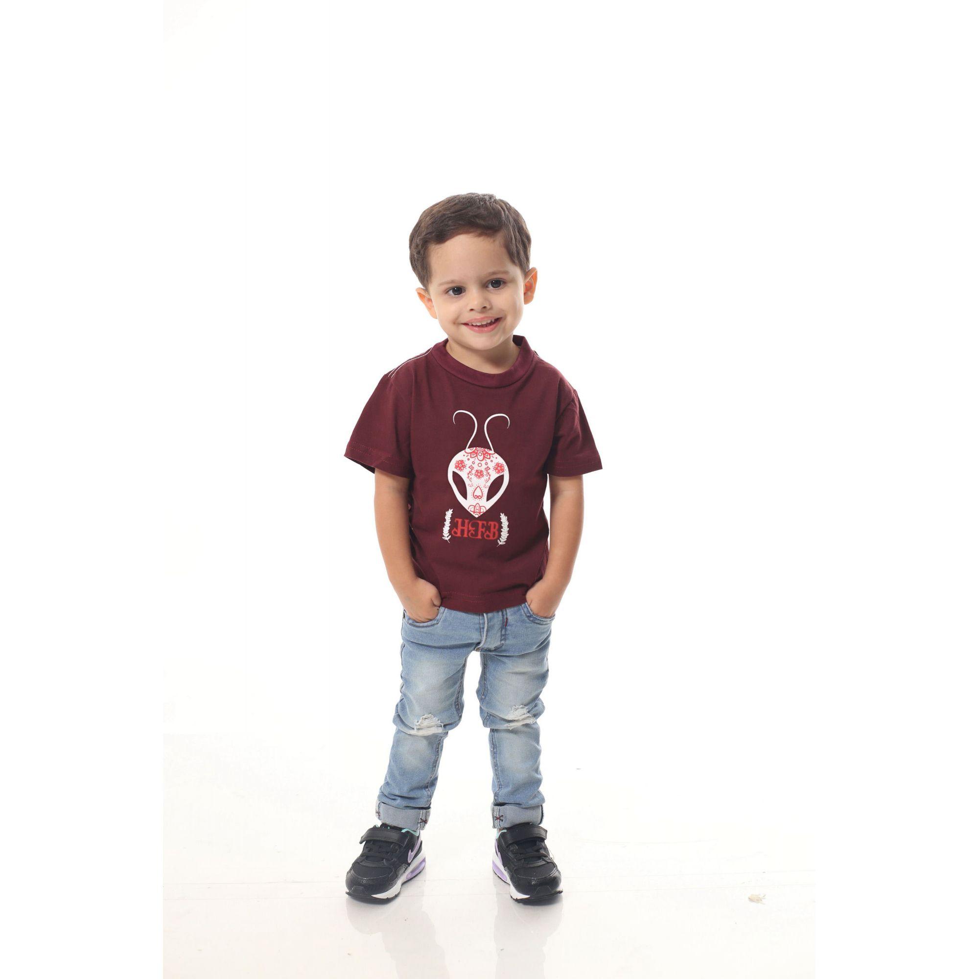 PAI E FILHO > Kit 02 Camisetas Bordo Estampadas [Coleção Tal Pai Tal Filho]  - Heitor Fashion Brazil