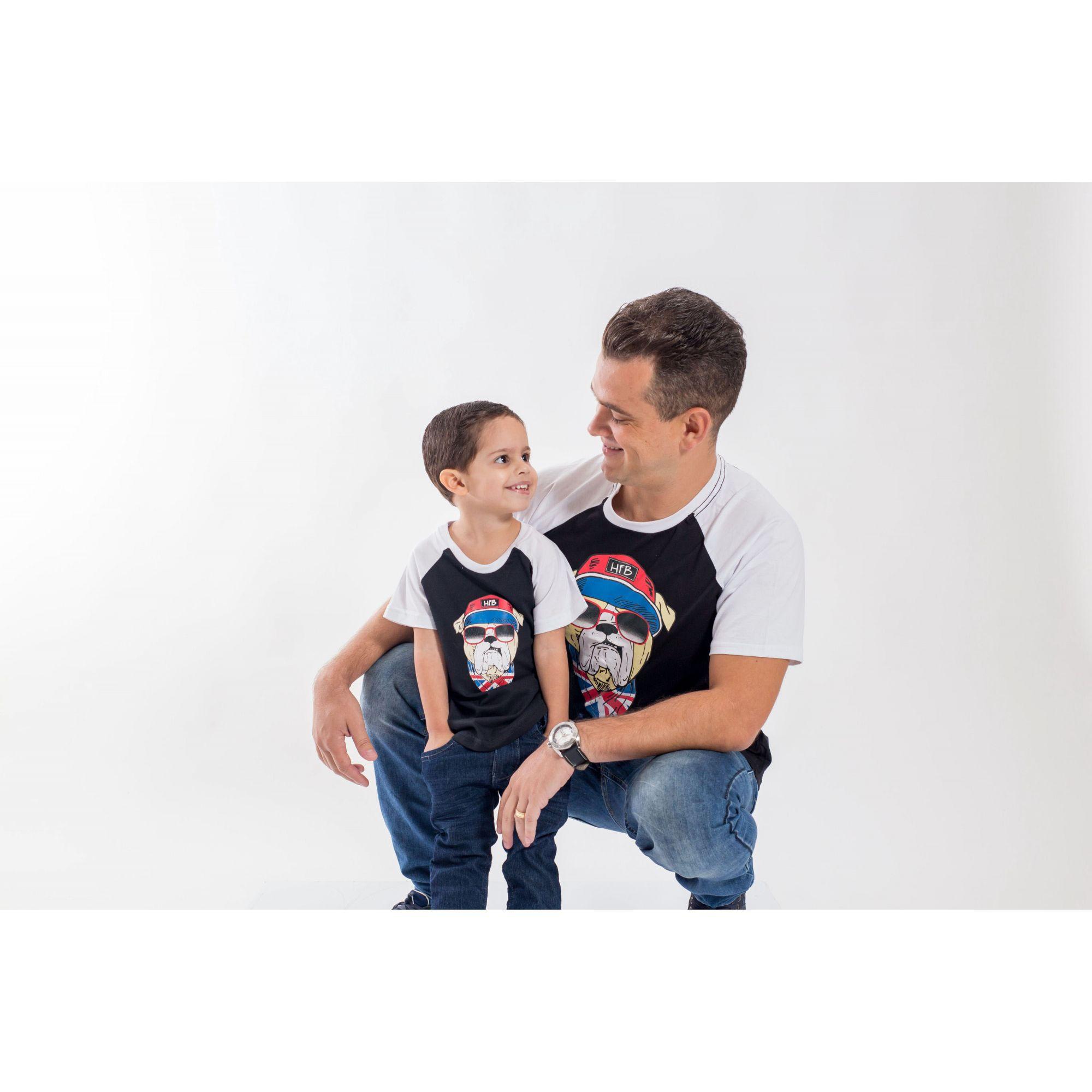 PAI E FILHO > Kit 02 Camisetas com Estampa de Cachorro [Coleção Tal Pai Tal Filho]  - Heitor Fashion Brazil