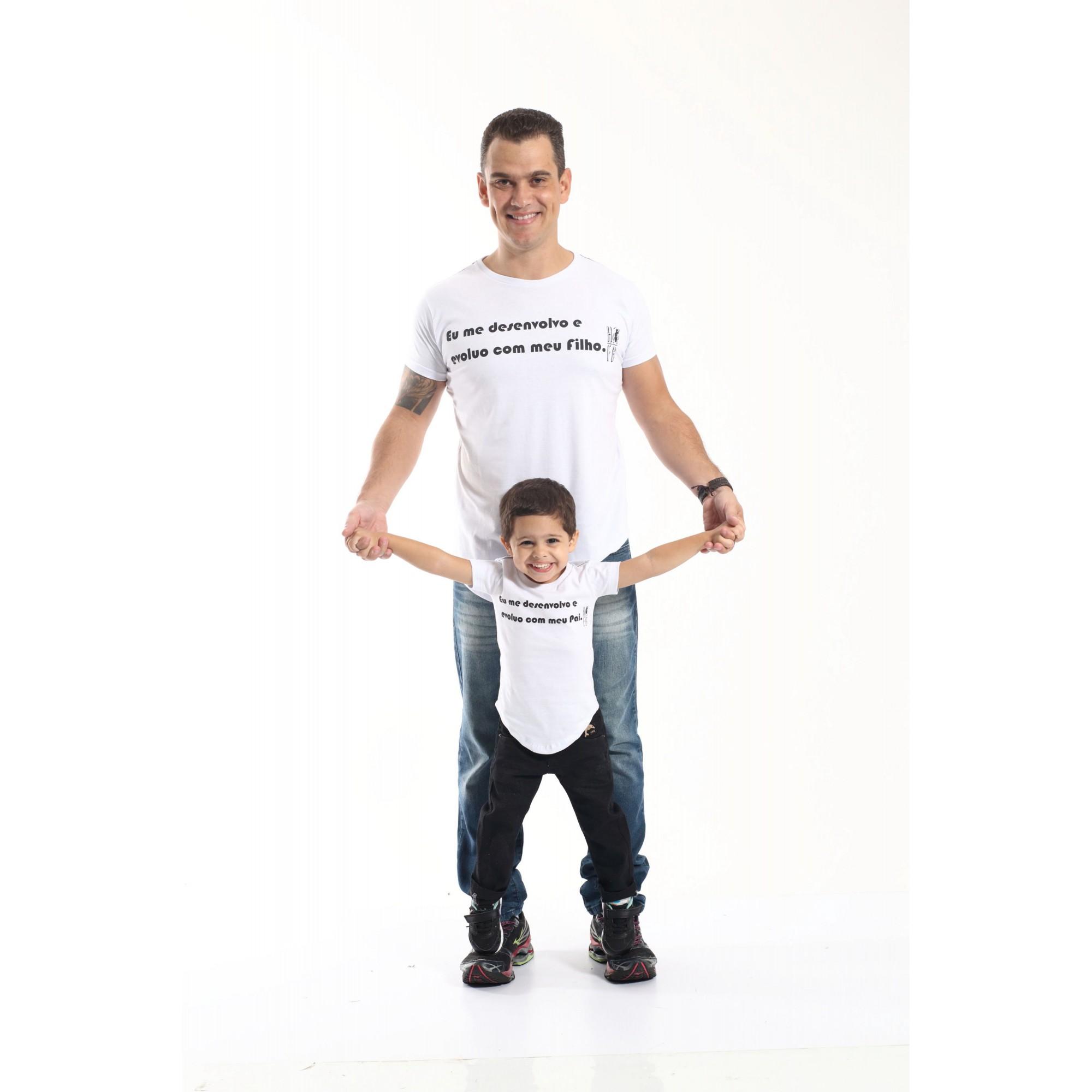 PAI E FILHO > Kit 02 Camisetas Long - Desenvolvo  [Coleção Tal Pai Tal Filho]