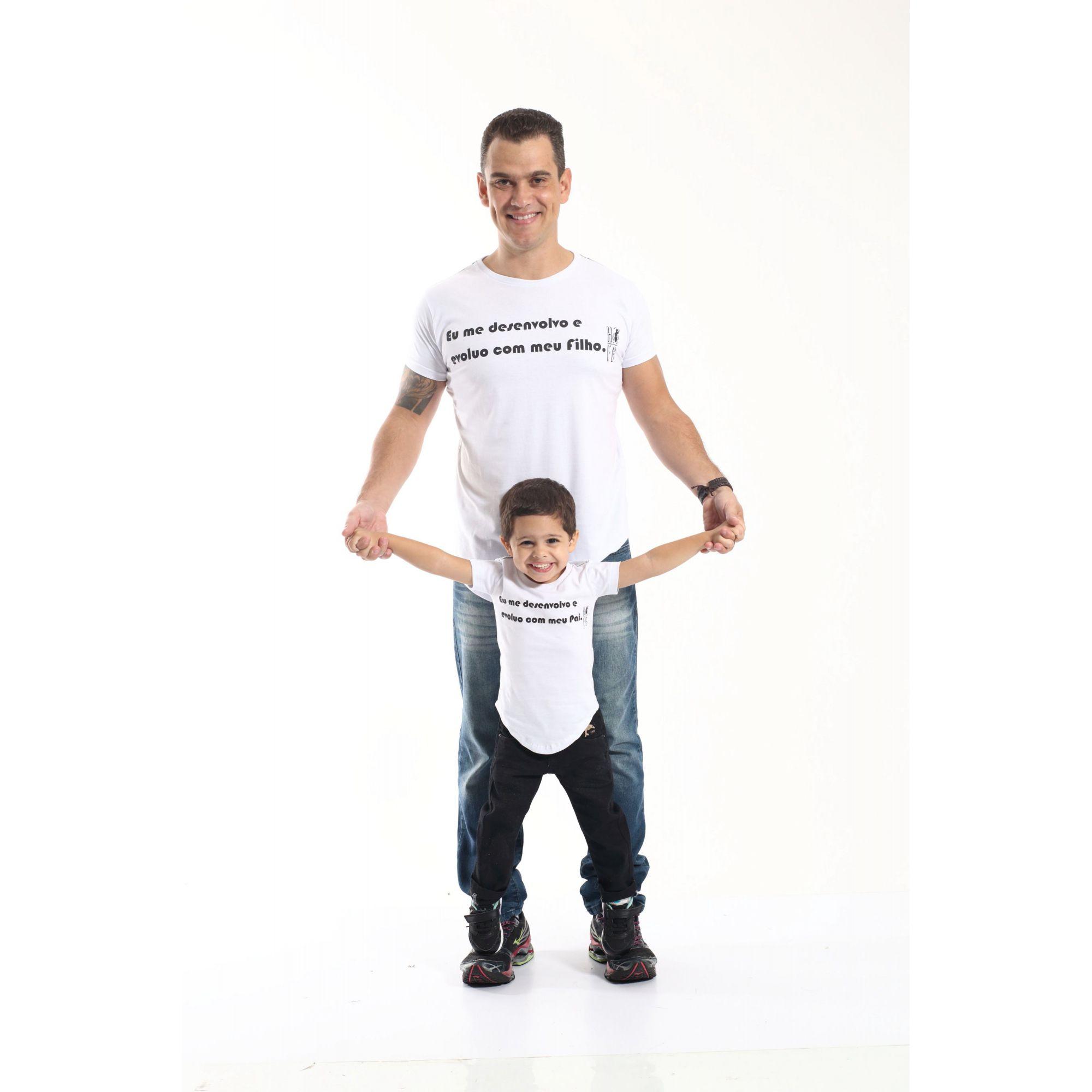 PAI E FILHO > Kit 02 Camisetas Long Desenvolvo com Meu Filho [Coleção Tal Pai Tal Filho]