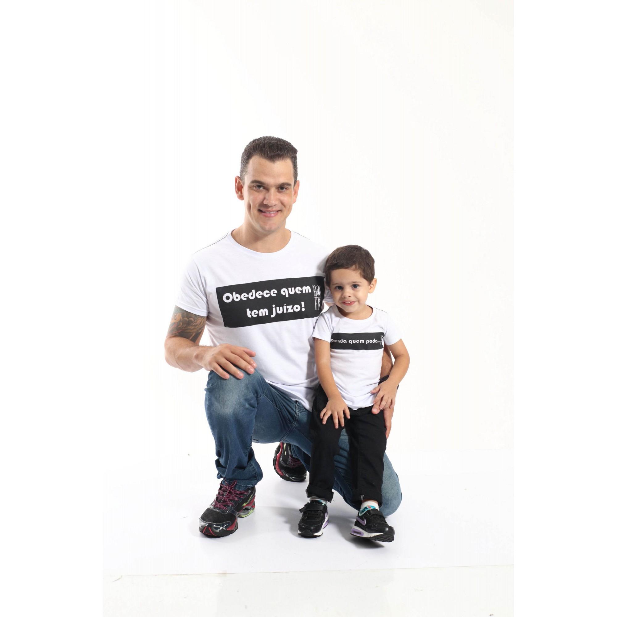 PAI E FILHO > Kit 02 Camisetas Long - Manda Quem Pode [Coleção Tal Pai Tal Filho]