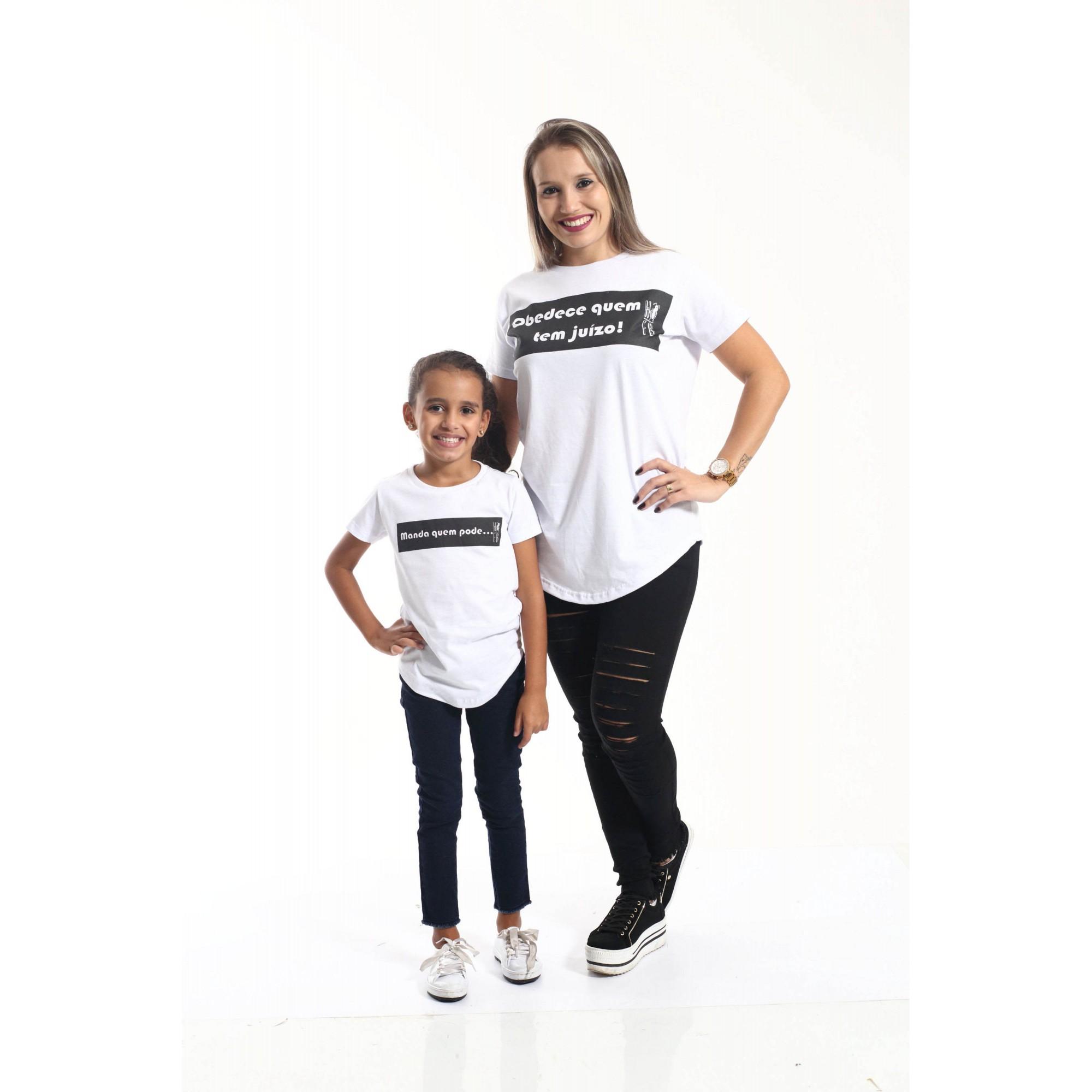 PAI E FILHO > Kit 02 Camisetas Long - Manda Quem Pode [Coleção Tal Pai Tal Filho]  - Heitor Fashion Brazil
