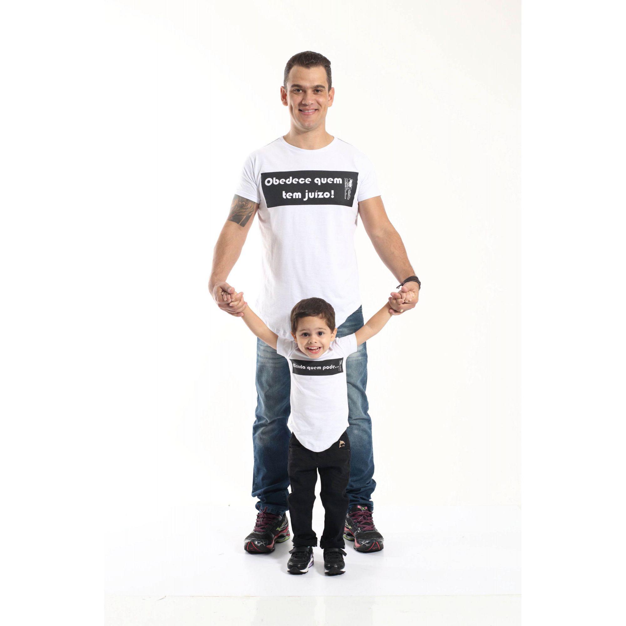PAI E FILHO > Kit 02 Camisetas Long Manda Quem Pode [Coleção Tal Pai Tal Filho]