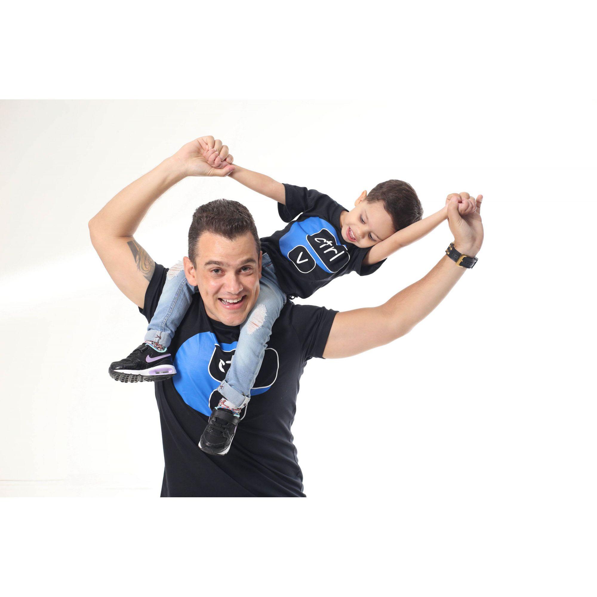 PAI E FILHO > Kit 02 Camisetas Pretas Ctrl+C Ctrl+V [Coleção Tal Pai Tal Filho]  - Heitor Fashion Brazil