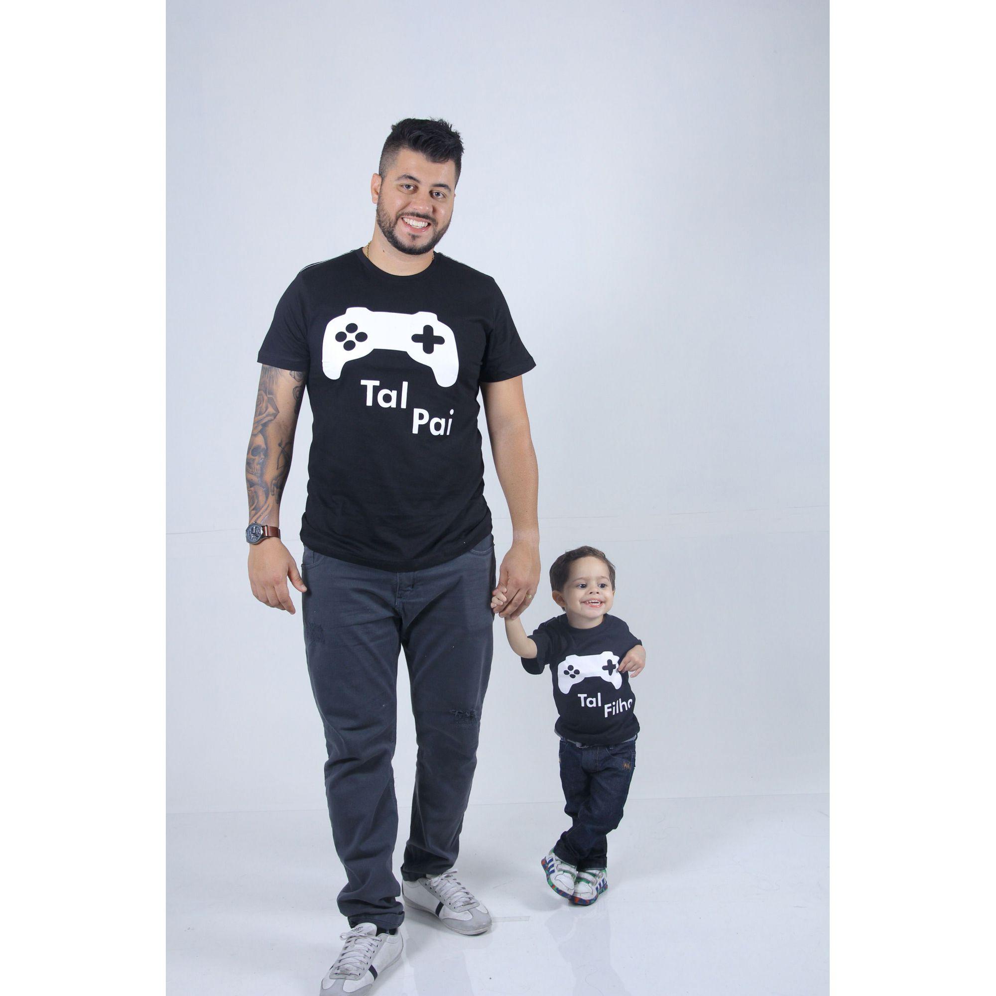 PAI E FILHO > Kit 02 Camisetas Vídeo game [Coleção Tal Pai Tal Filho]