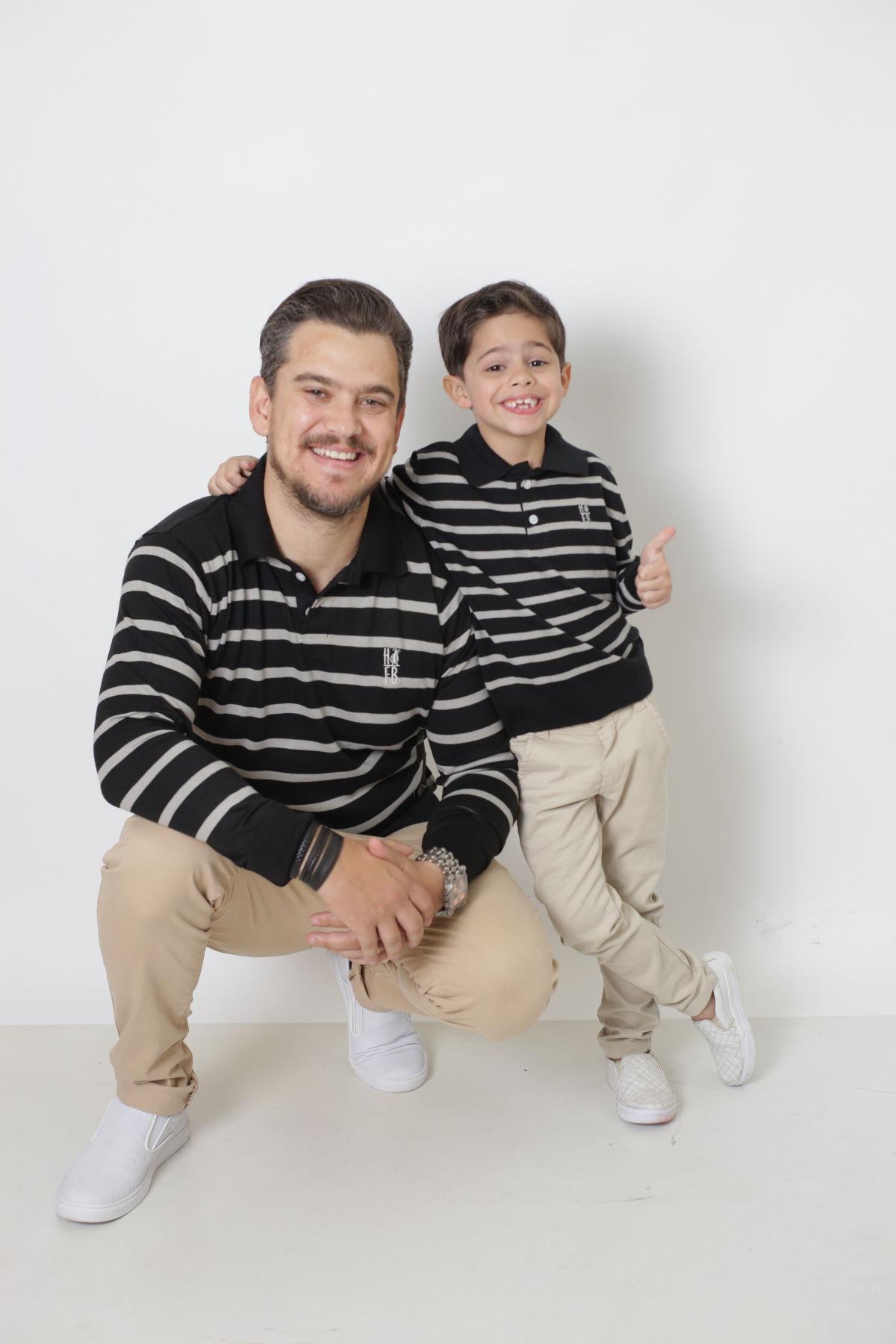 PAI E FILHO > Kit 02 Polo Suéter Listrado [Coleção Tal Pai Tal Filho]