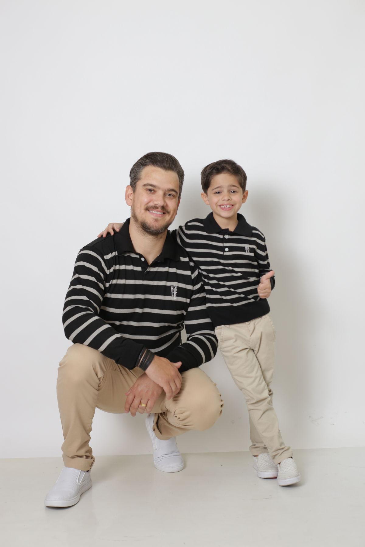 PAI E FILHO > Kit 02 Polo Suéter Listrado [Coleção Tal Pai Tal Filho]  - Heitor Fashion Brazil