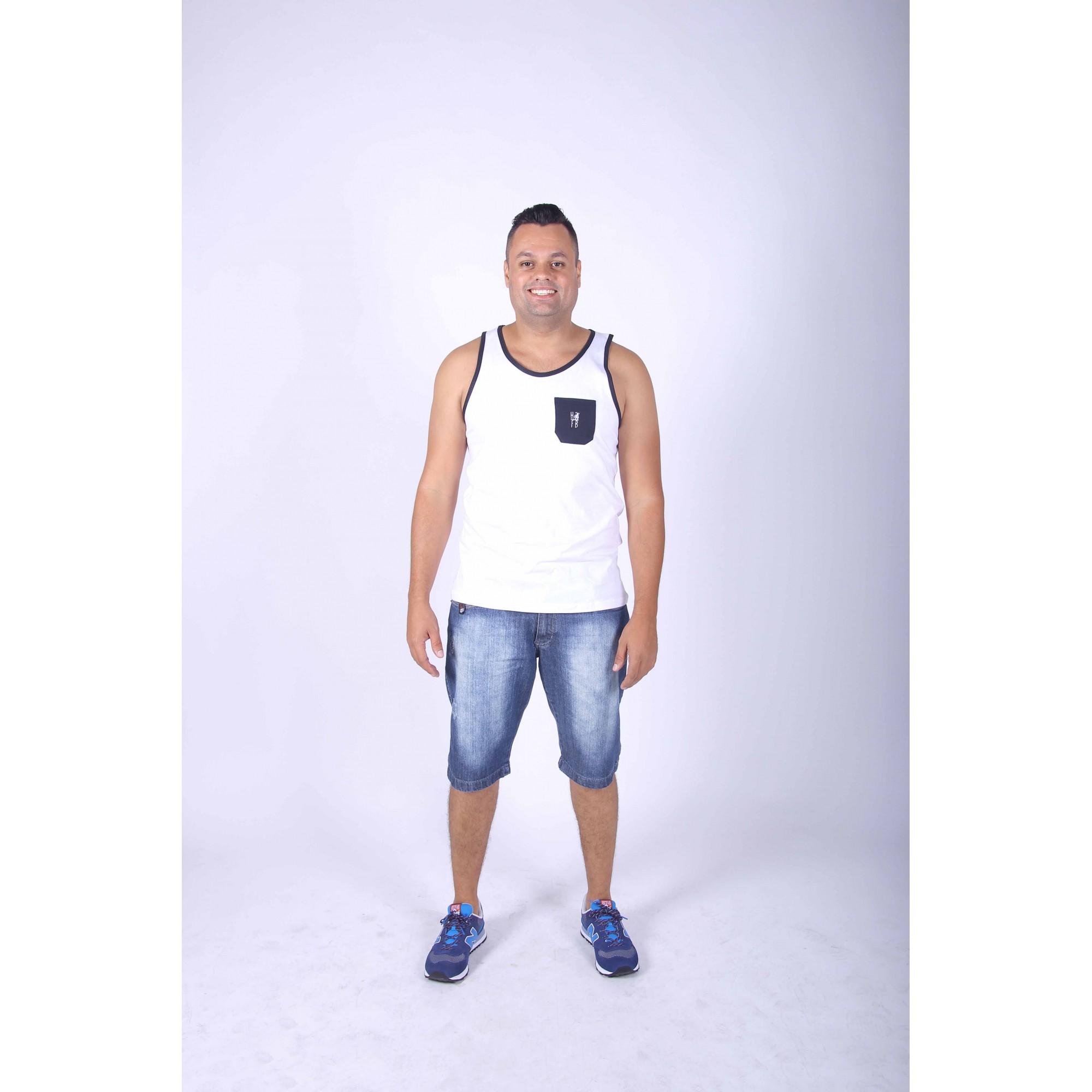 PAI E FILHO > Kit 02 Regatas Branca com Bolso Preto [Coleção Tal Pai Tal Filho]  - Heitor Fashion Brazil