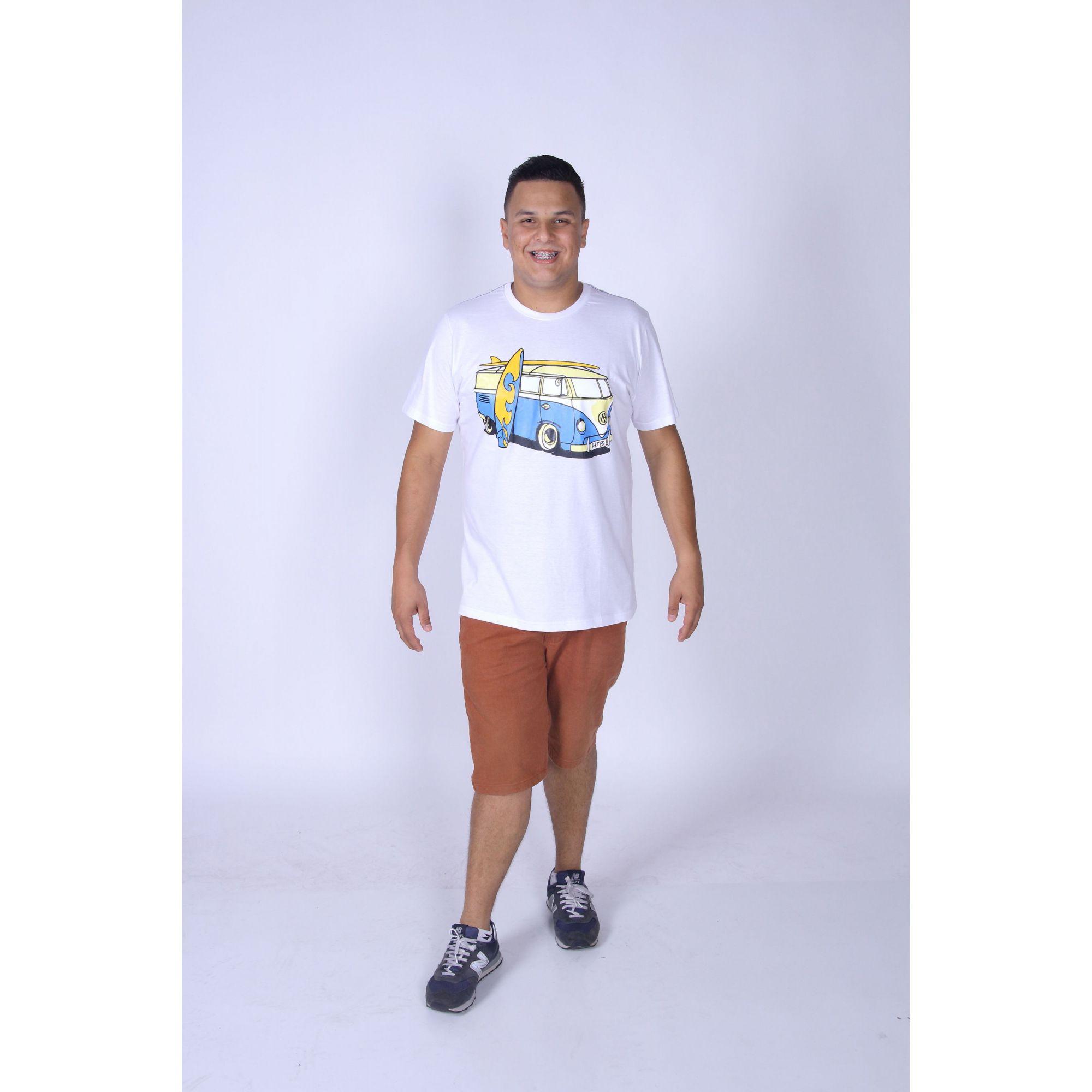 PAI E FILHO > Kit com 02 Camisetas Brancas com Estampa de Kombi [Coleção Tal Pai Tal Filho]  - Heitor Fashion Brazil