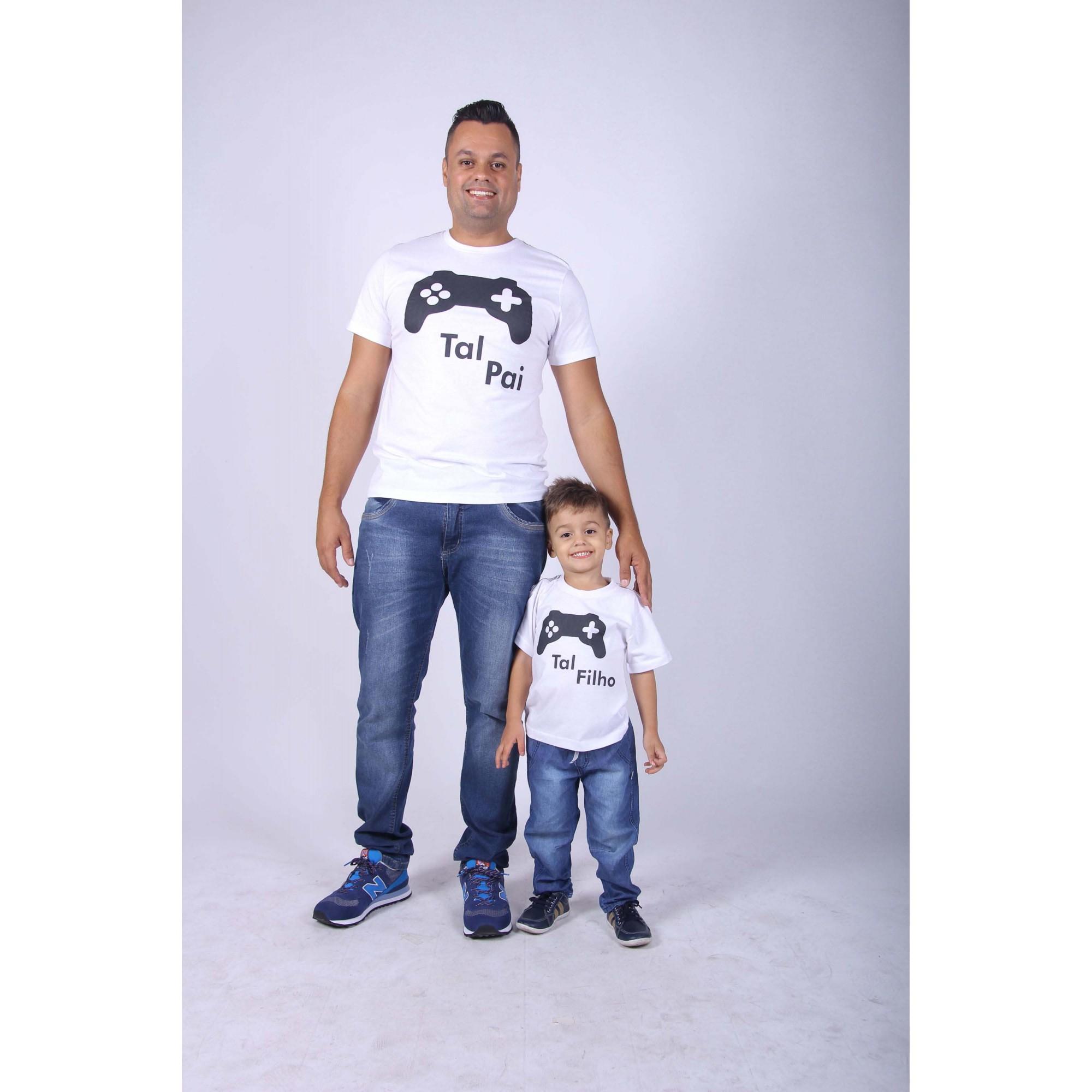 PAI E FILHOS > 02 Camisetas - Preto - Game  [Coleção Tal Pai Tal Filho]  - Heitor Fashion Brazil