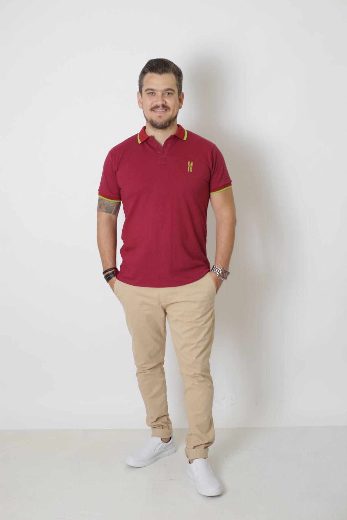 PAI E FILHOS > Kit 02 Peças Camisa + Body Polo - Bordo  [Coleção Tal Pai Tal Filho]  - Heitor Fashion Brazil