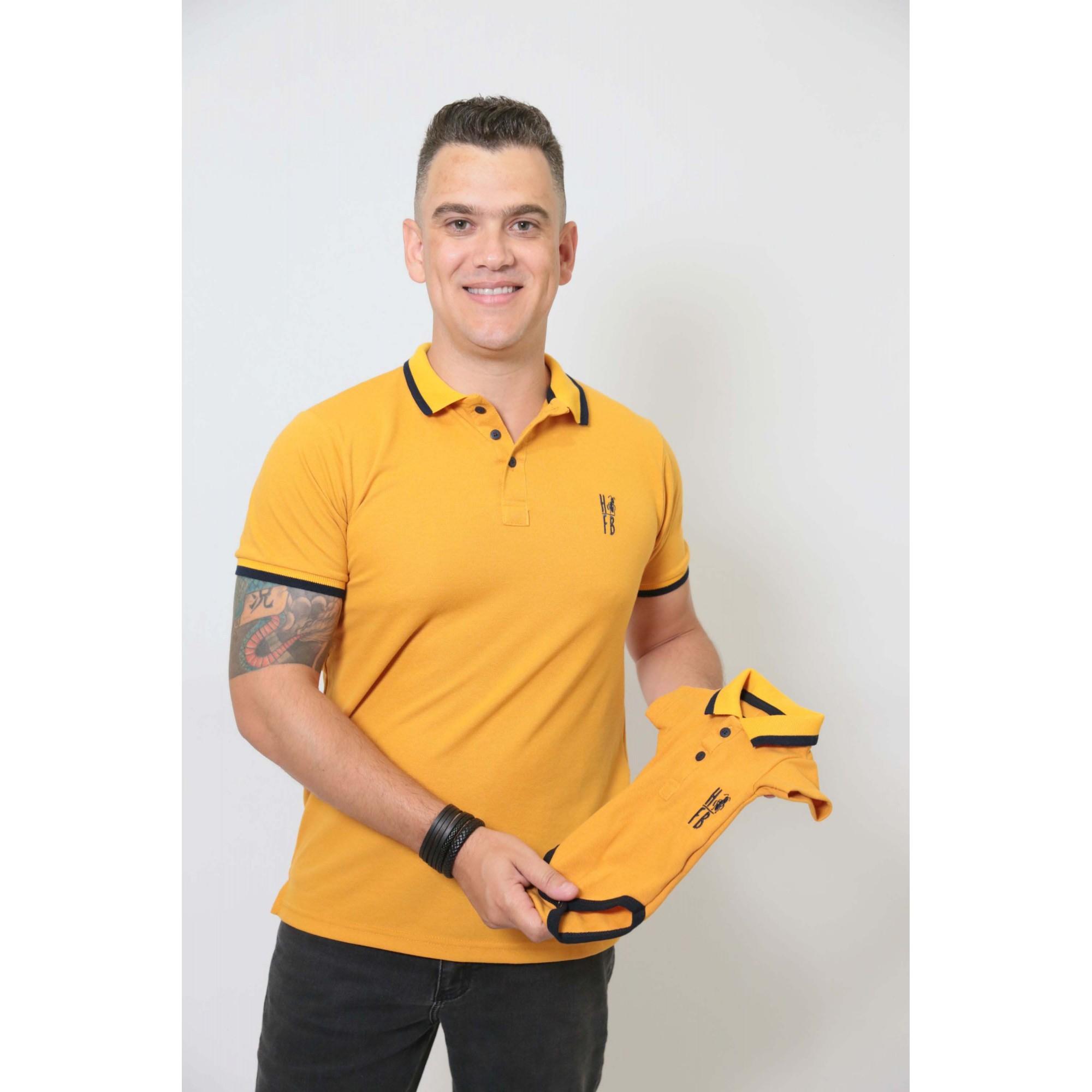 PAI E FILHOS > Kit 02 Peças Camisa + Body Polo - Mostarda  [Coleção Tal Pai Tal Filho]