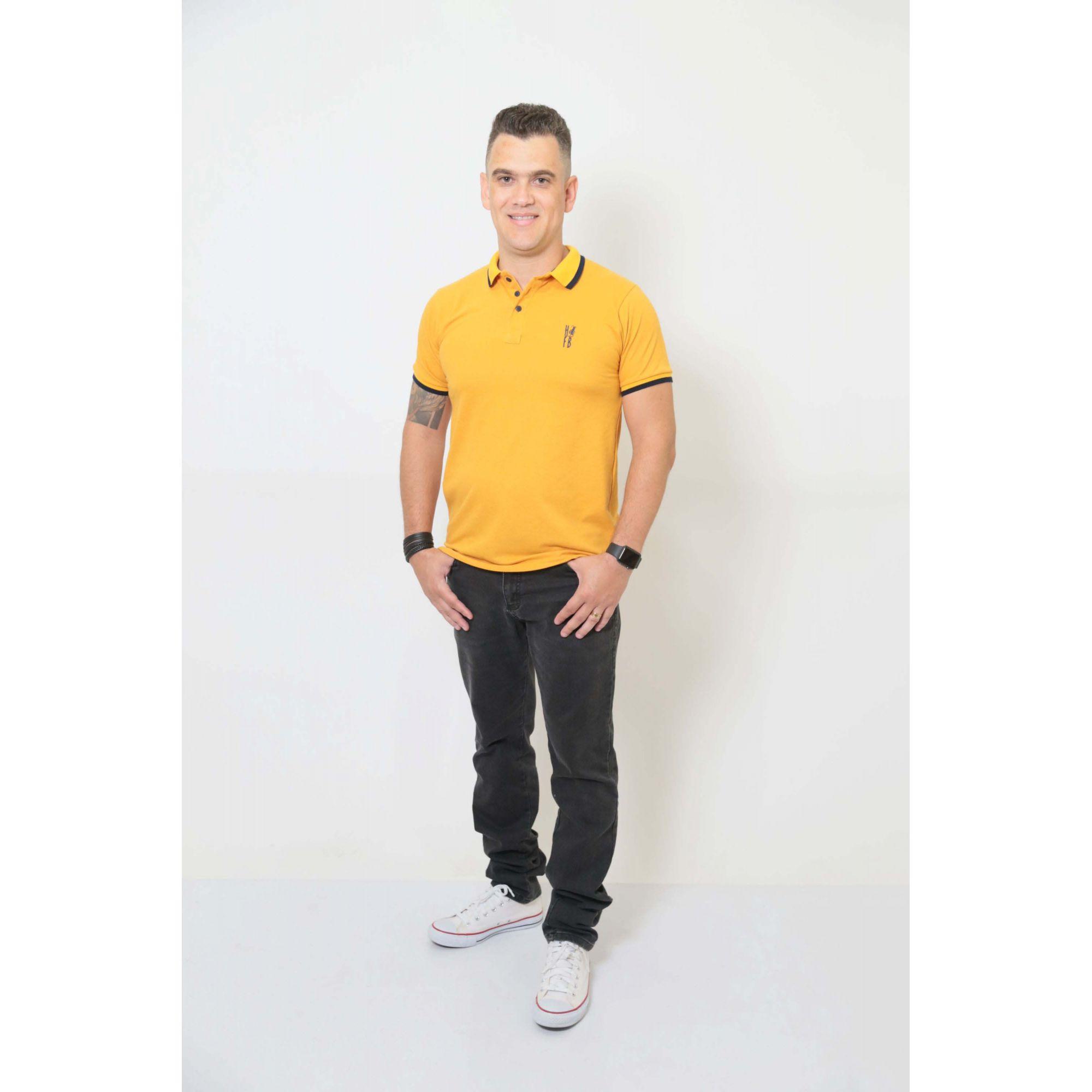 PAI E FILHOS > Kit 02 Peças Camisa + Body Polo - Mostarda  [Coleção Tal Pai Tal Filho]  - Heitor Fashion Brazil