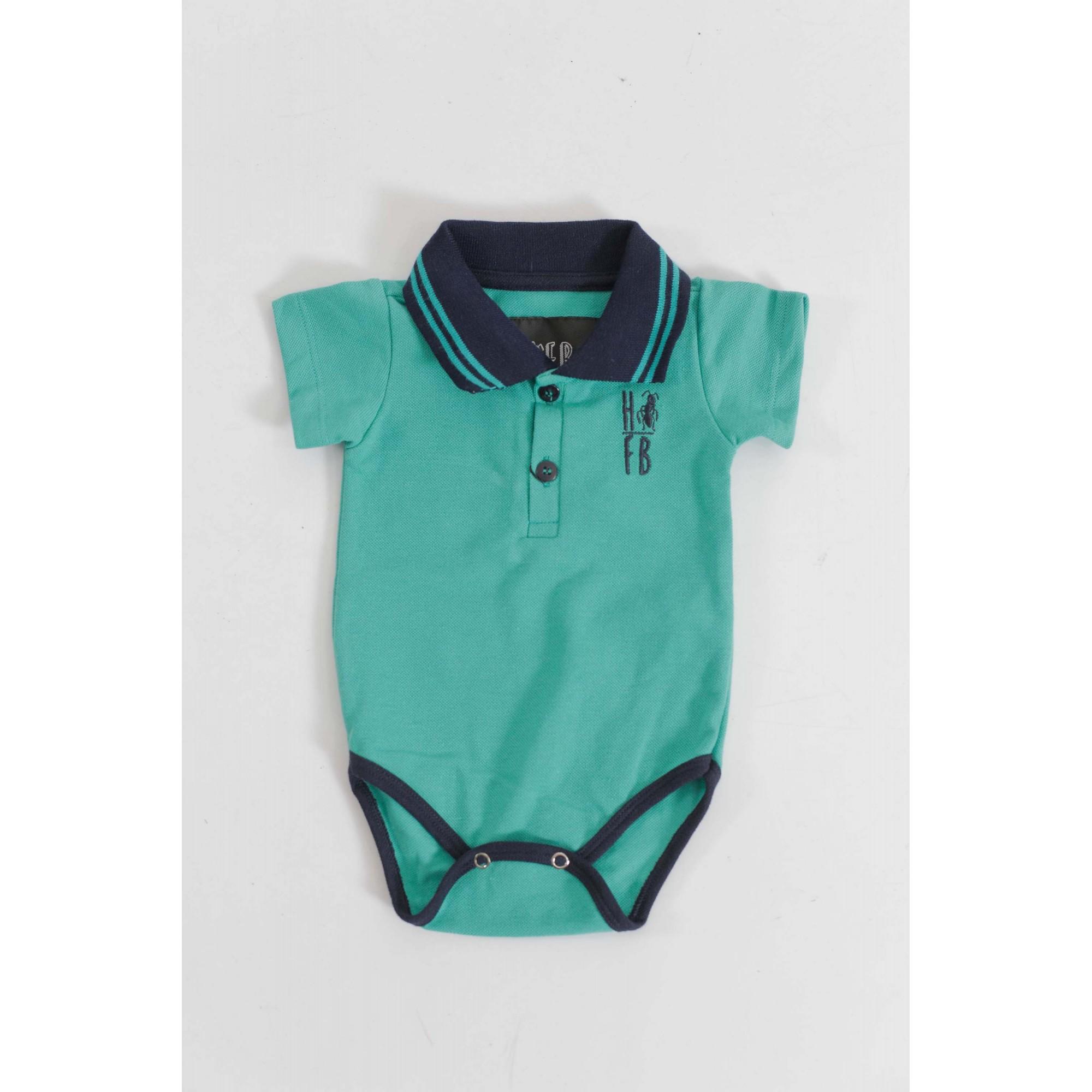 PAI E FILHOS > Kit 02 Peças Camisa + Body Polo Unissex - Verde Jade  [Coleção Tal Pai Tal Filho]  - Heitor Fashion Brazil
