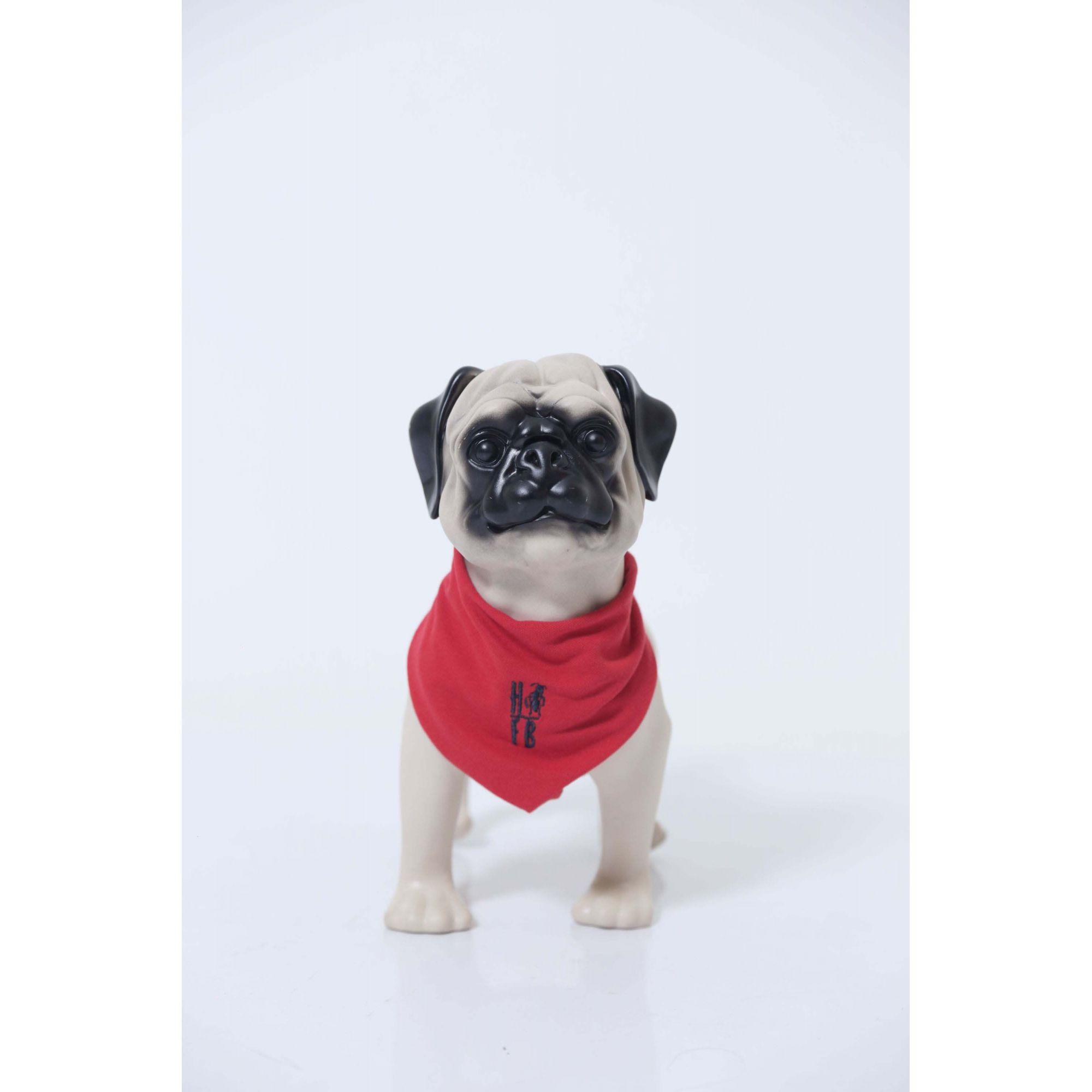 PAI E PET > Kit 02 Peças - Camisa Polo e Bandana Vermelho Manga Longa [Coleção Tal Pai Tal Filho]  - Heitor Fashion Brazil