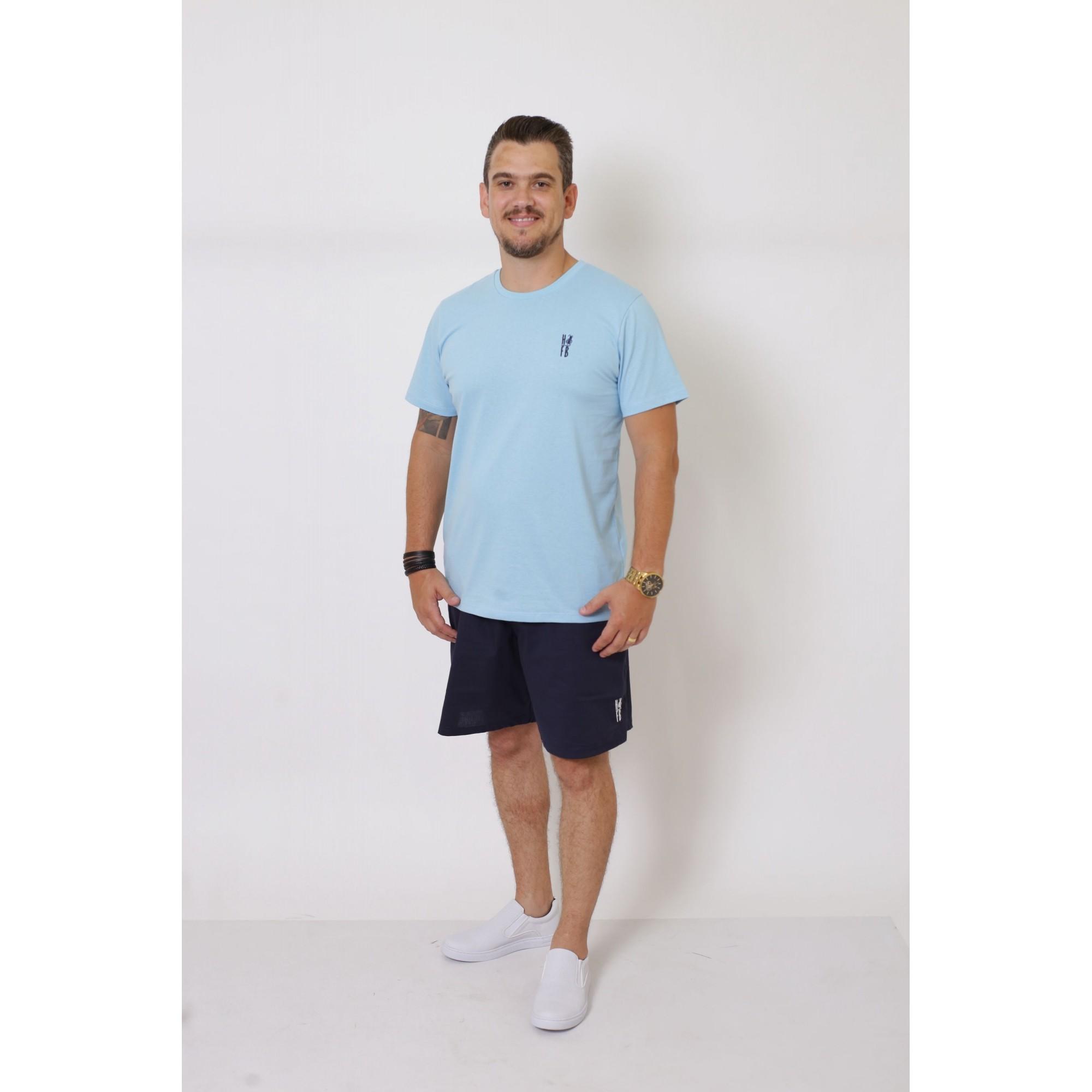 PAIS E FILHAS > Kit 3 Peças T-Shirt - Azul Bebê [Coleção Família]  - Heitor Fashion Brazil