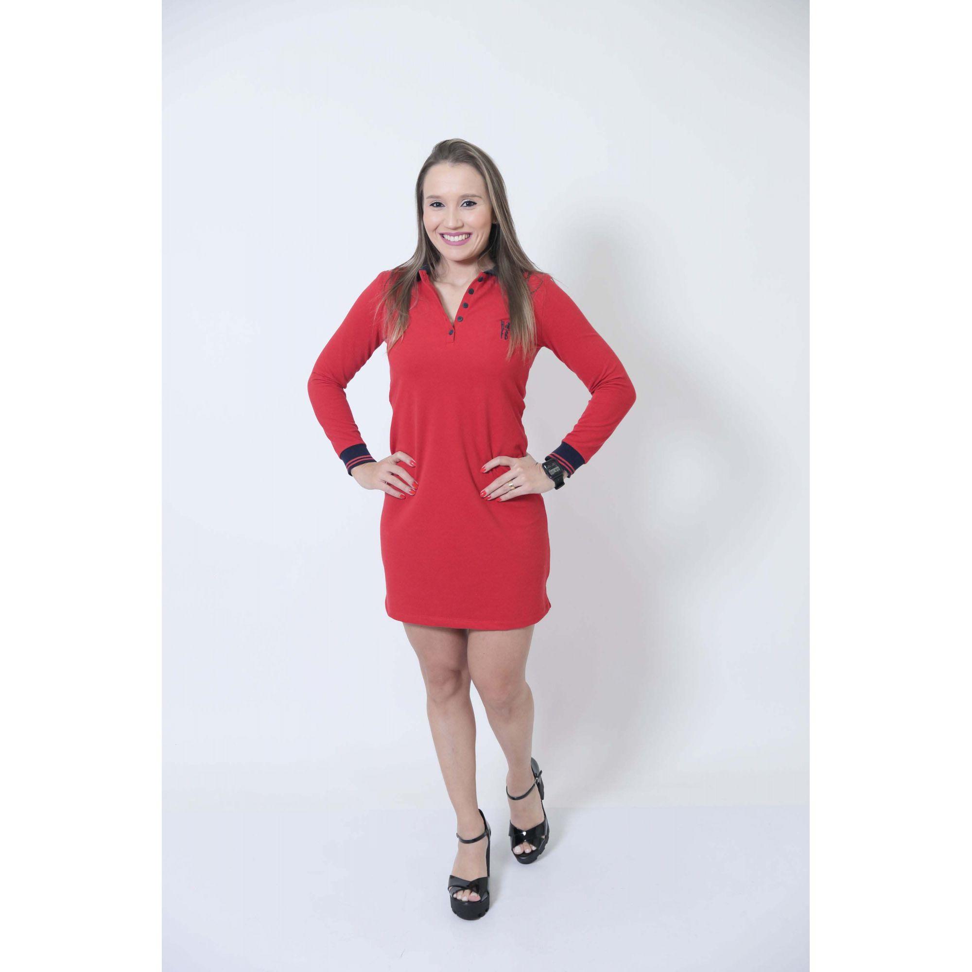 PAIS E FILHOS > Kit 03 Peças Vermelho Manga Longa Camisas ou Body + Vestido Polo [Coleção Família]  - Heitor Fashion Brazil