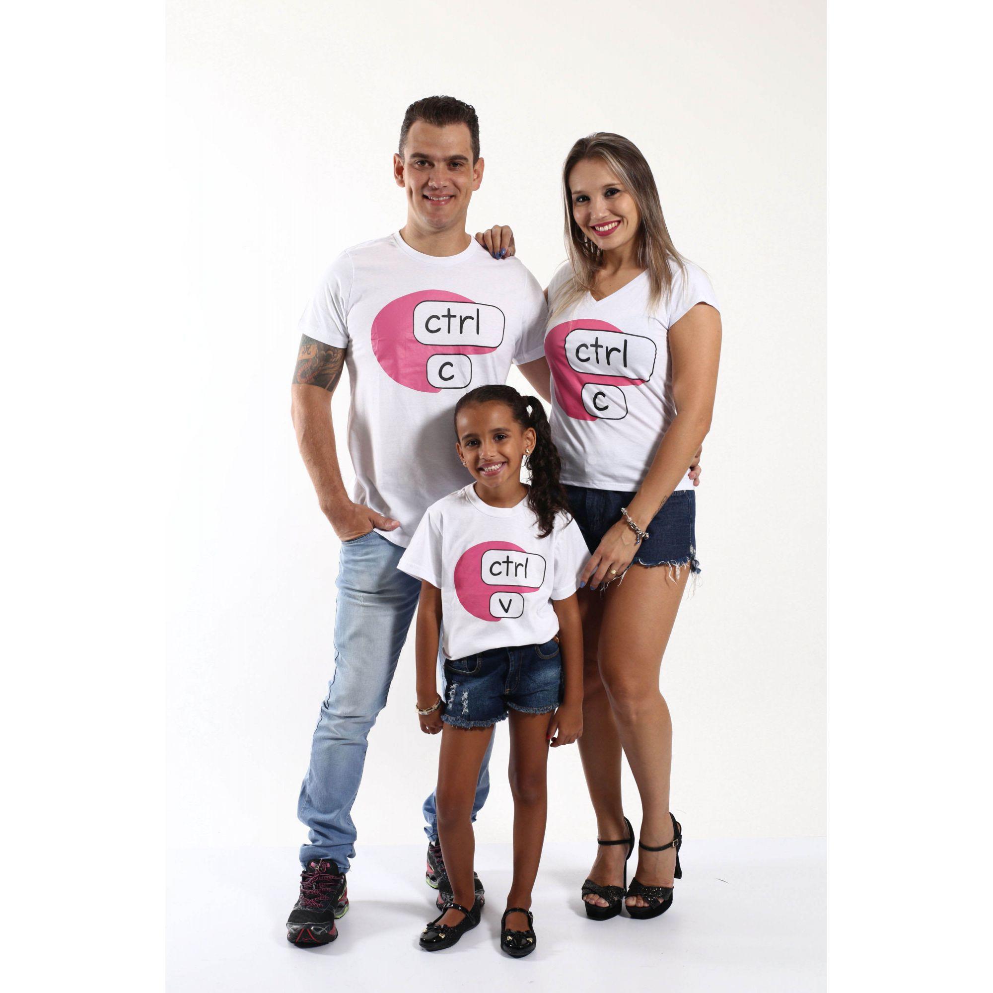 PAIS E FILHOS > Kit 3 Camisetas Brancas CTRL-C & CTRL-V [Coleção Família]