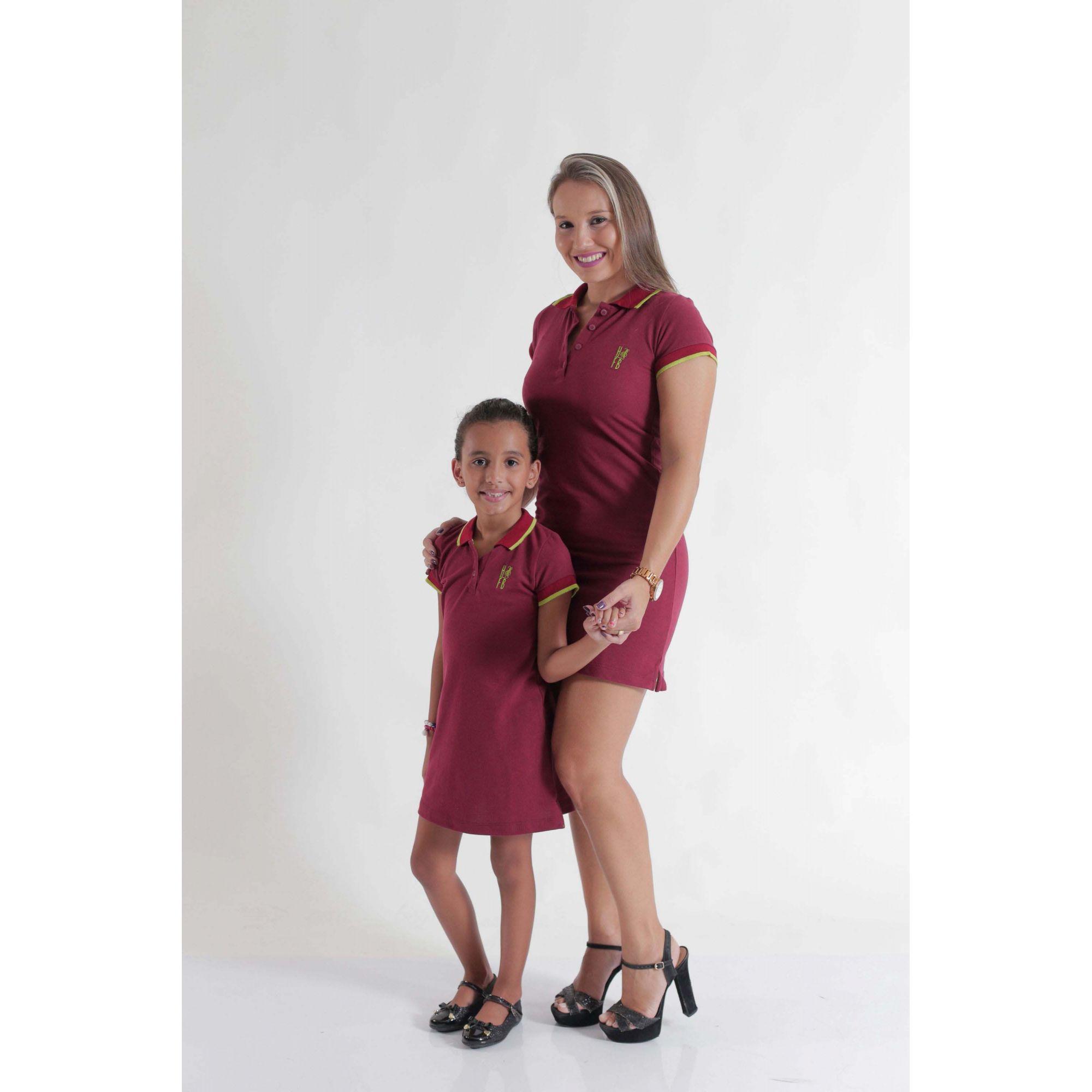PAIS E FILHOS > Kit 3 peças Camisa e Vestidos Polo Bordo [Coleção Família]  - Heitor Fashion Brazil