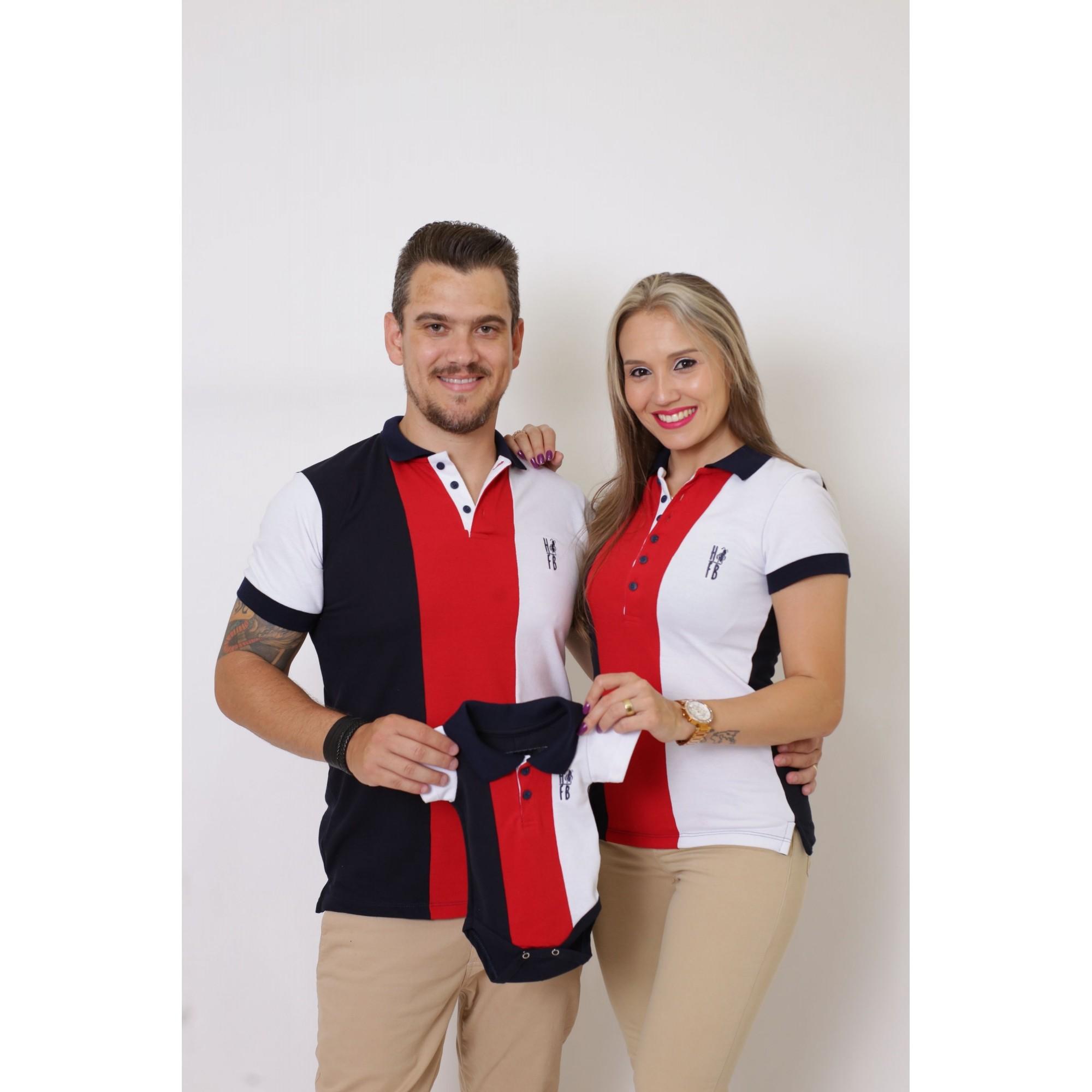 PAIS E FILHOS > Kit 3 peças Camisas ou Body Polo - Listrados King [Coleção Família]  - Heitor Fashion Brazil