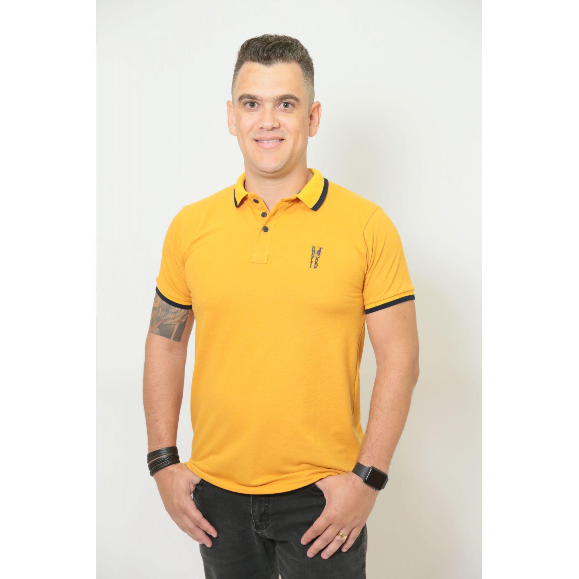 PAIS E FILHOS > Kit 3 peças Camisas ou Body Polo Mostarda [Coleção Família]  - Heitor Fashion Brazil