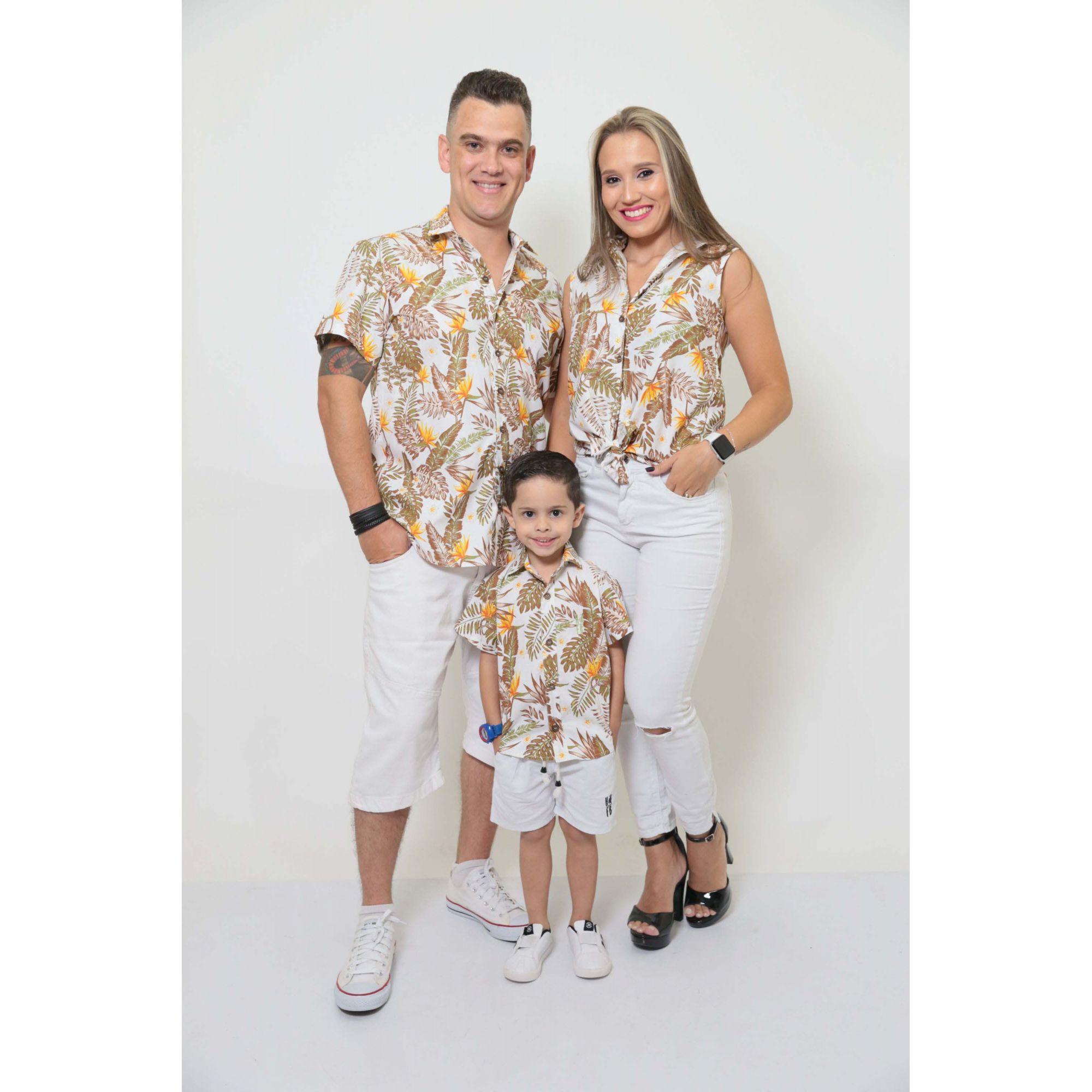 PAIS E FILHOS > Kit 3 peças Camisas Social Amazonas [Coleção Família]