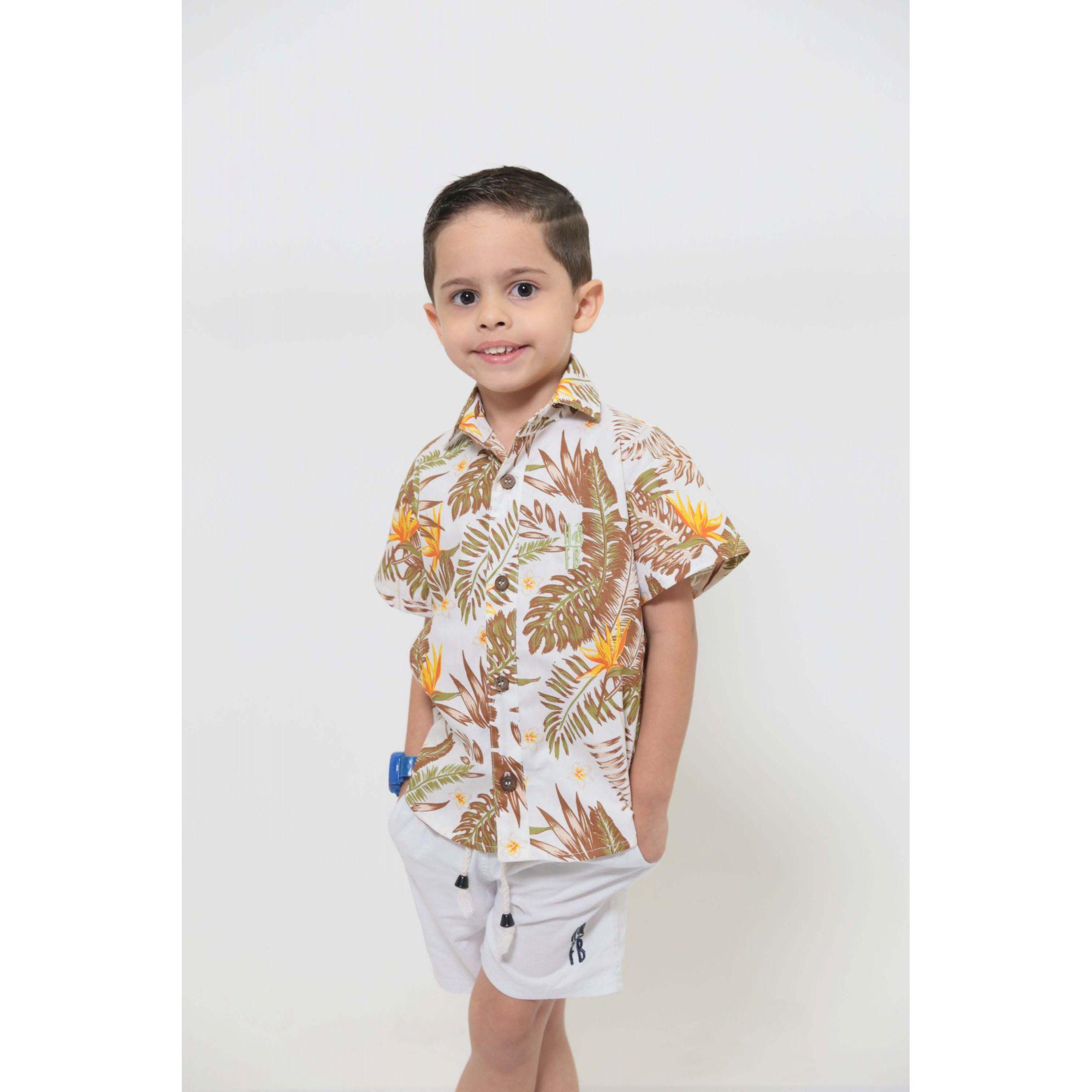 PAIS E FILHOS > Kit 3 peças Camisas Social Amazonas [Coleção Família]  - Heitor Fashion Brazil