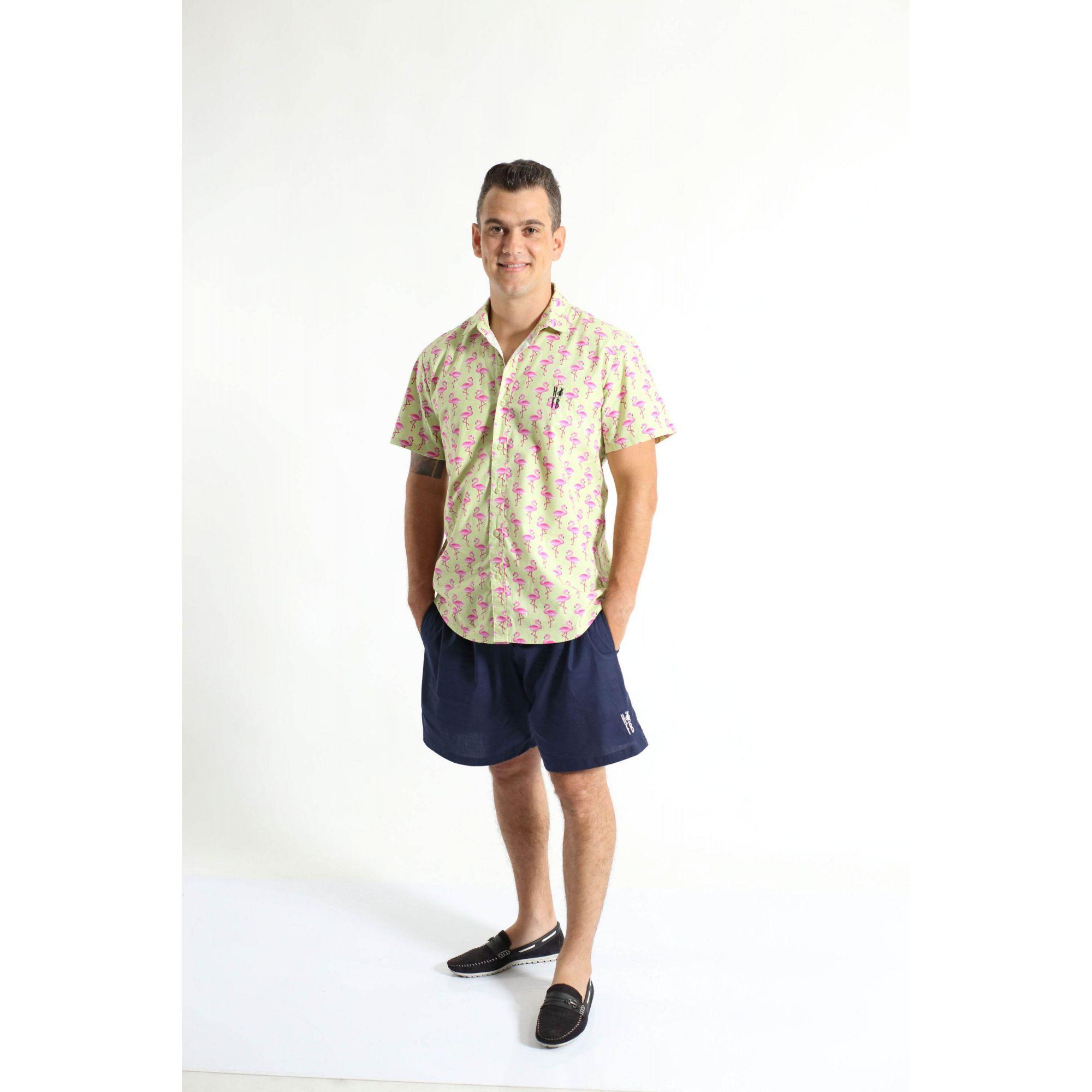 PAIS E FILHOS > Kit 3 peças Camisas Social Flamingo [Coleção Família]  - Heitor Fashion Brazil