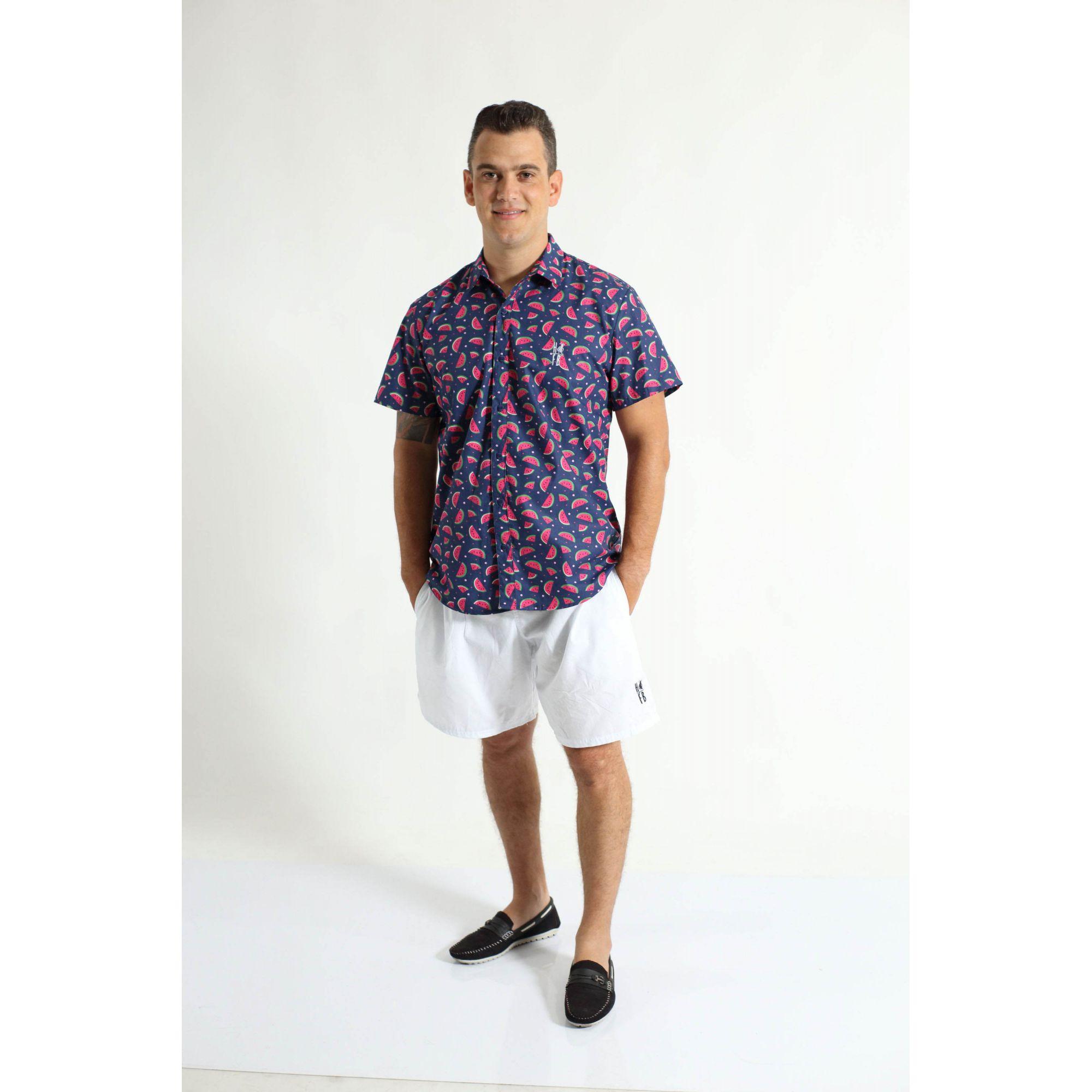 PAIS E FILHOS > Kit 3 peças Camisas Social Melancia [Coleção Família]  - Heitor Fashion Brazil