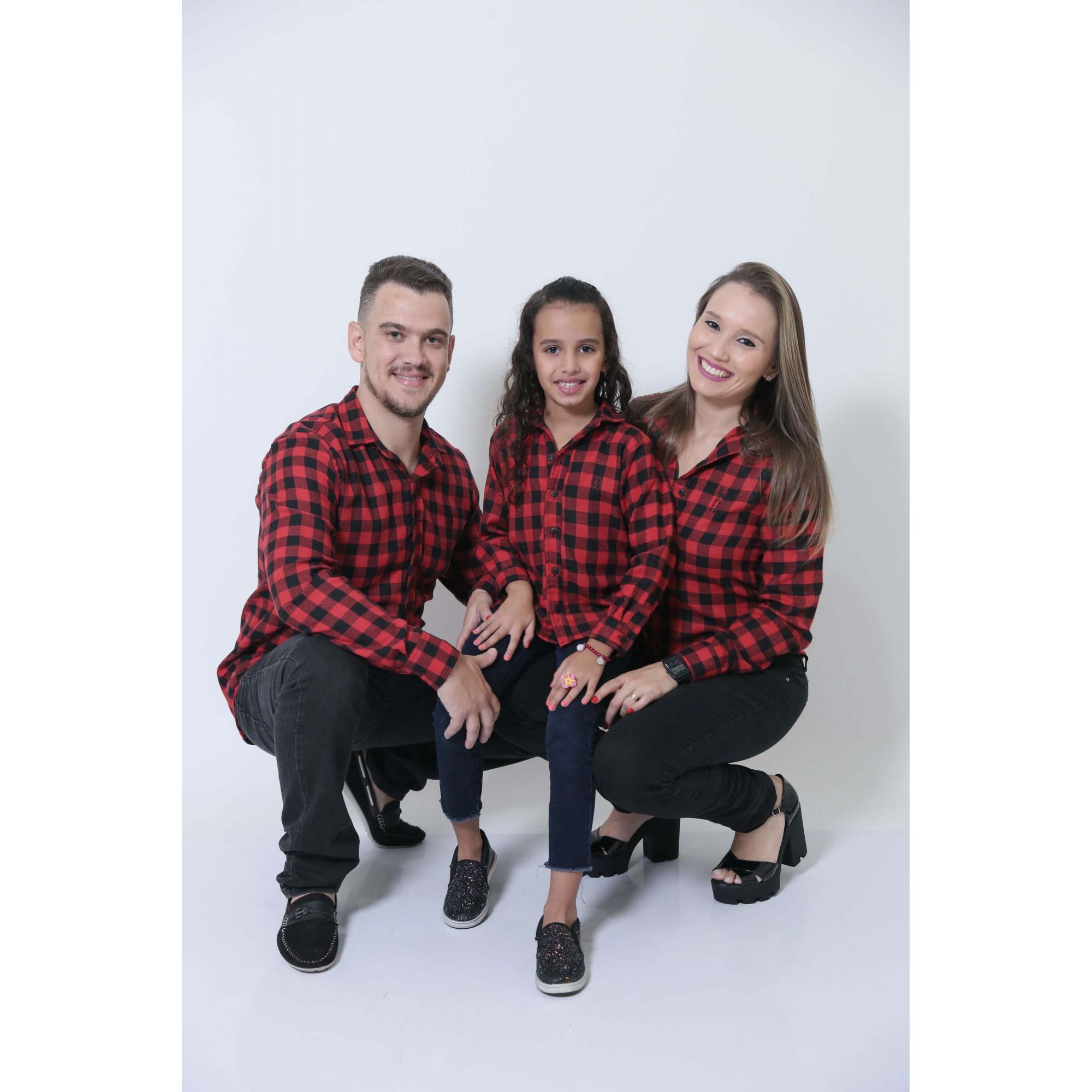 PAIS E FILHOS > Kit 3 peças Camisas Social Xadrez Lenhador [Coleção Família]  - Heitor Fashion Brazil