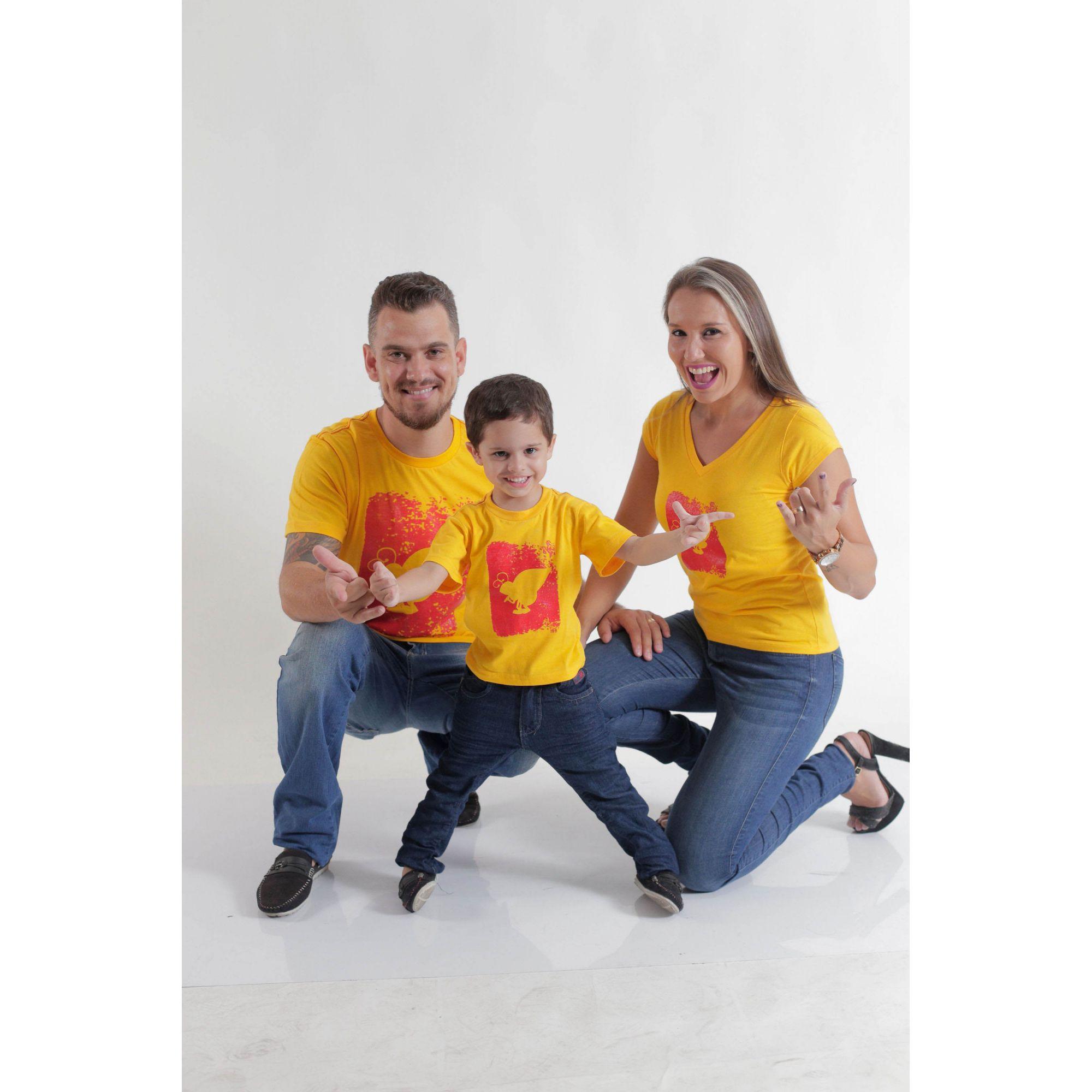 PAIS E FILHOS > Kit 3 peças Camisetas Amarelas HFB [Coleção Família]