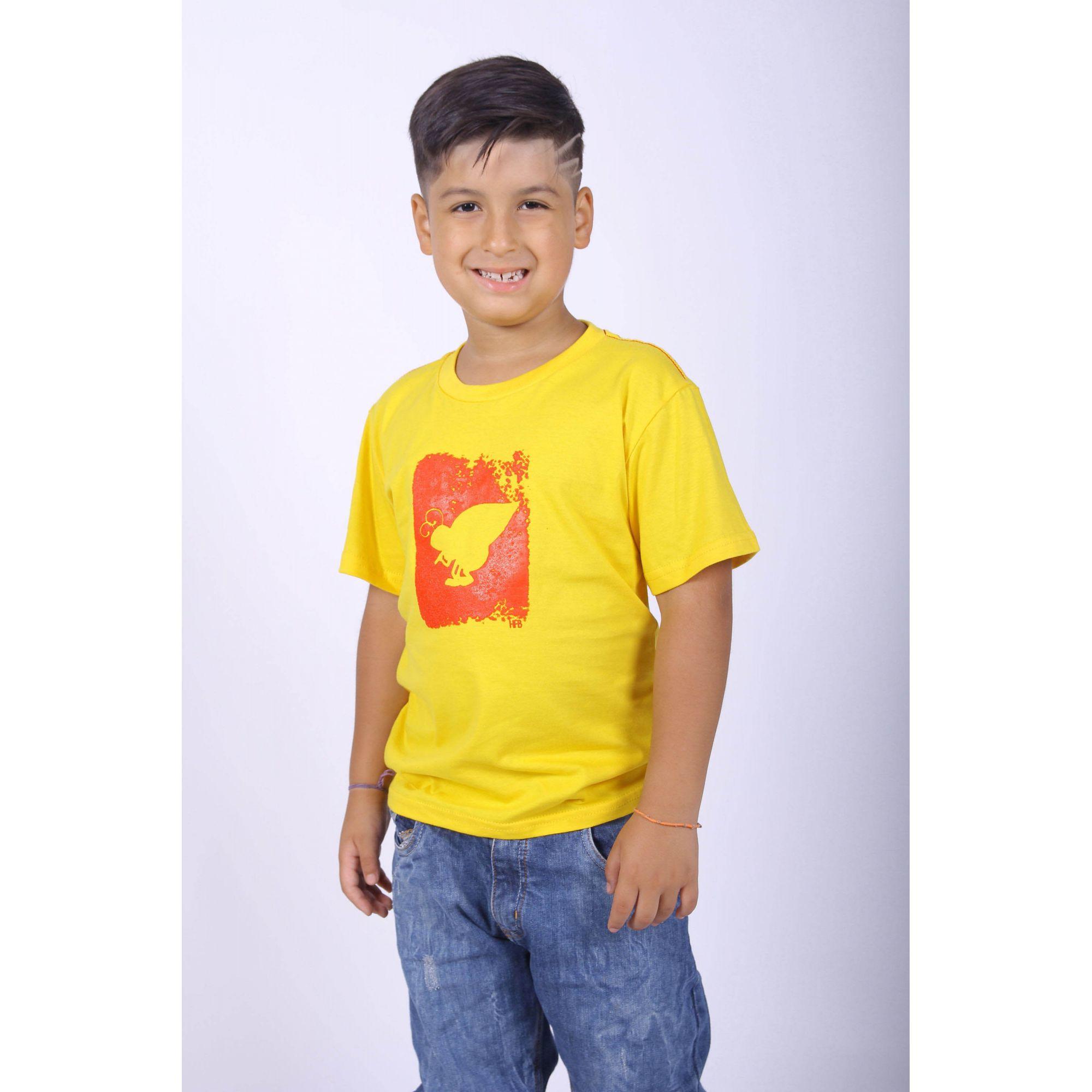 PAIS E FILHOS > Kit 3 peças Camisetas Amarelas Formiga HFB [Coleção Família]  - Heitor Fashion Brazil