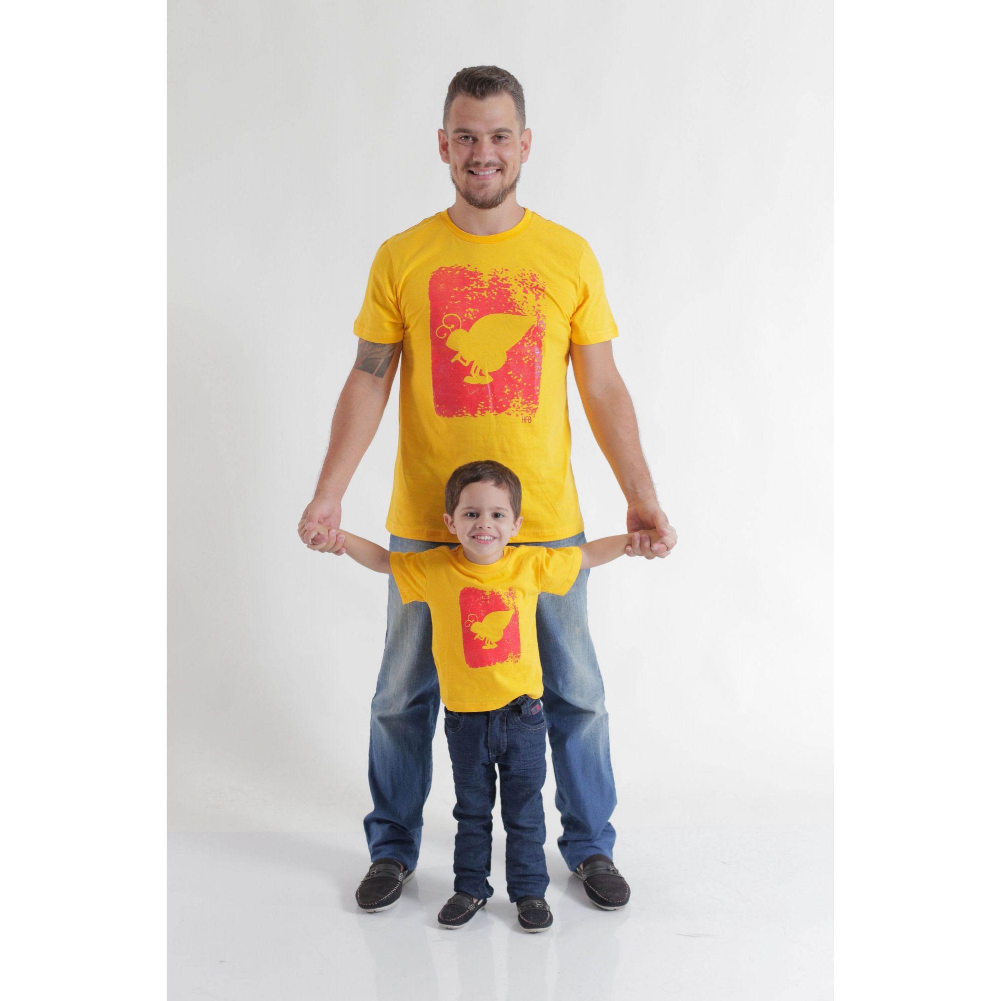 PAI E FILHO > Kit 2 peças Camisetas Amarela Formiga HFB [Coleção Tal Pai Tal Filho]