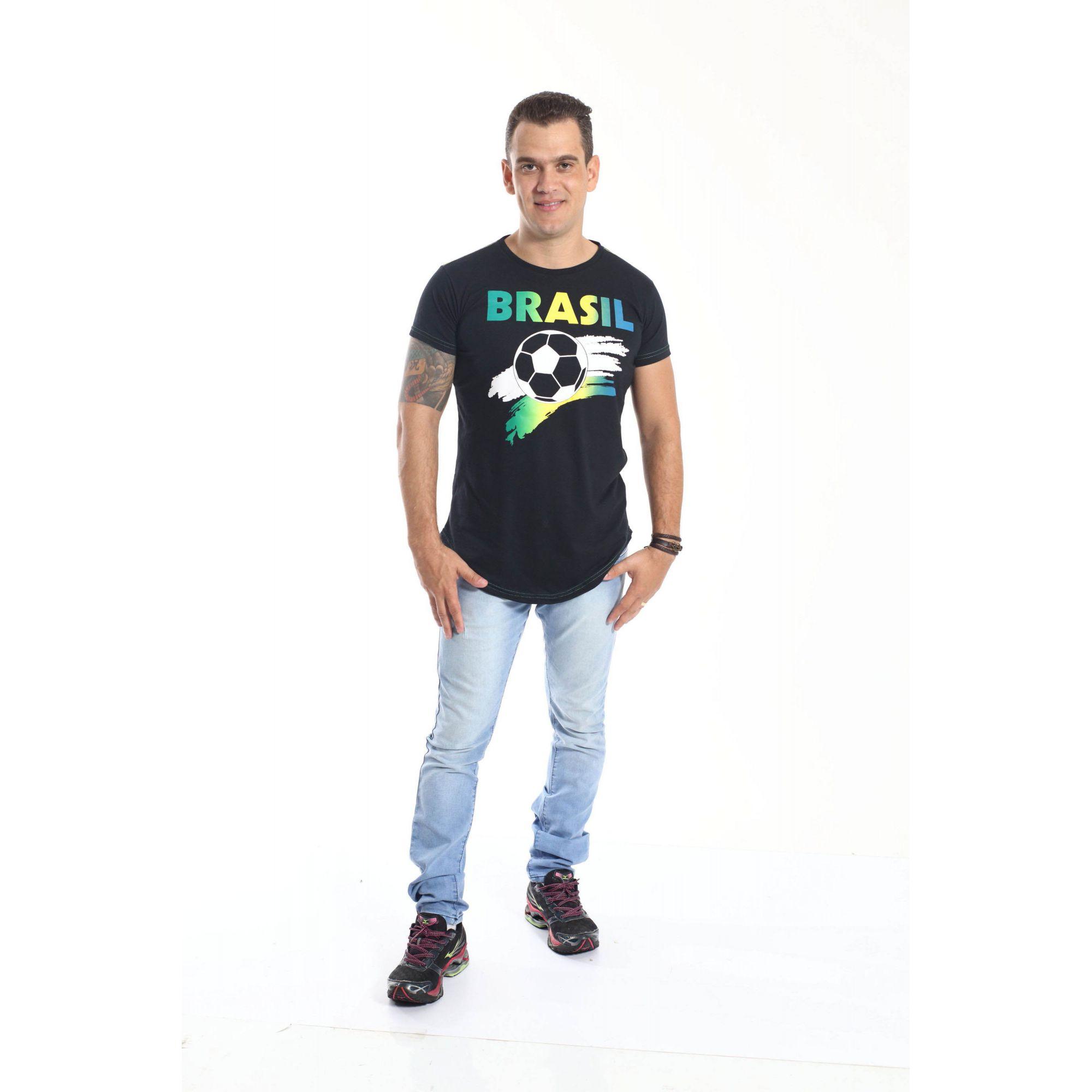 ff1c9e0511f44 ... PAIS E FILHOS   Kit 3 peças Camisetas Long Brasil Unissex  Coleção  Família  ...