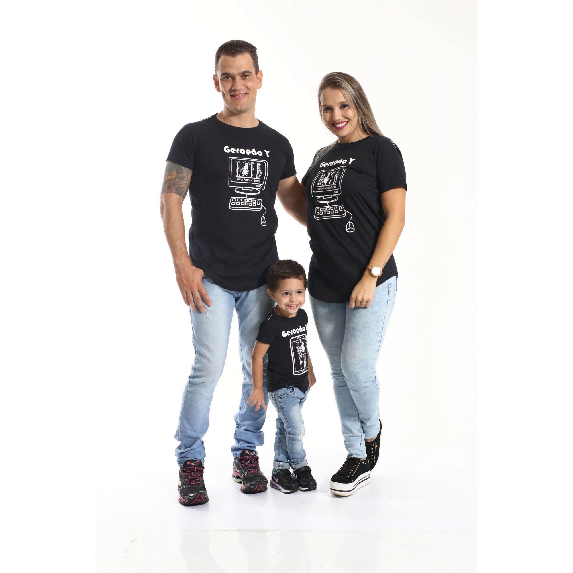 PAIS E FILHOS > Kit 3 peças Camisetas Long Gerações Unissex [Coleção Família]