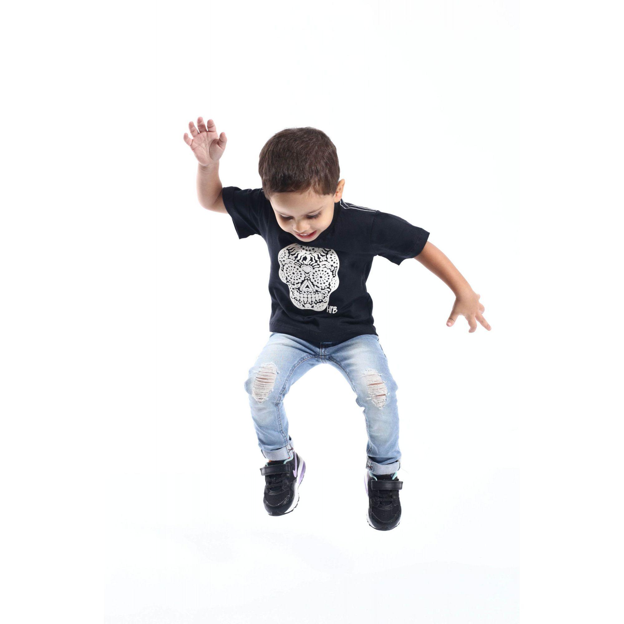 PAIS E FILHOS > Kit 3 peças Camisetas Pretas Caveira Alto Relevo [Coleção Família]  - Heitor Fashion Brazil