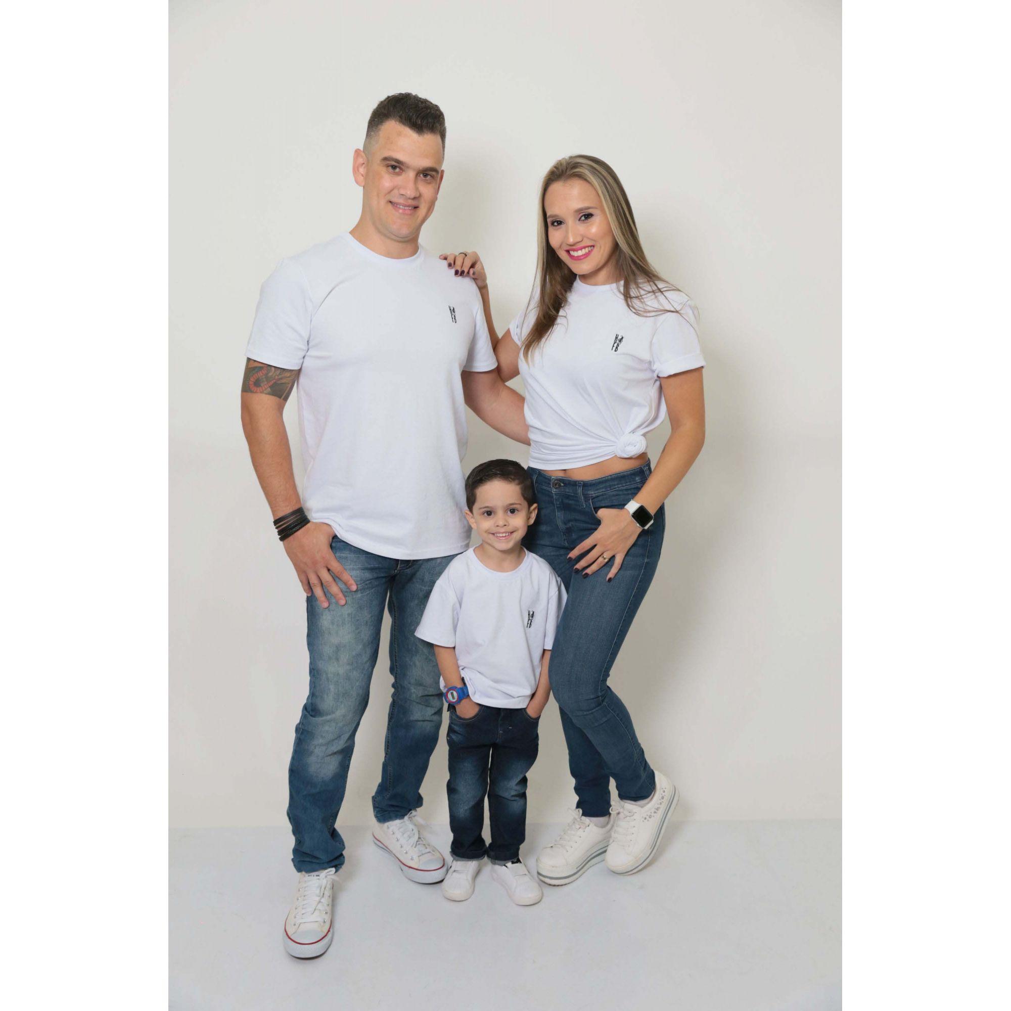 PAIS E FILHOS > Kit 3 Peças T-Shirt - Branca [Coleção Família]