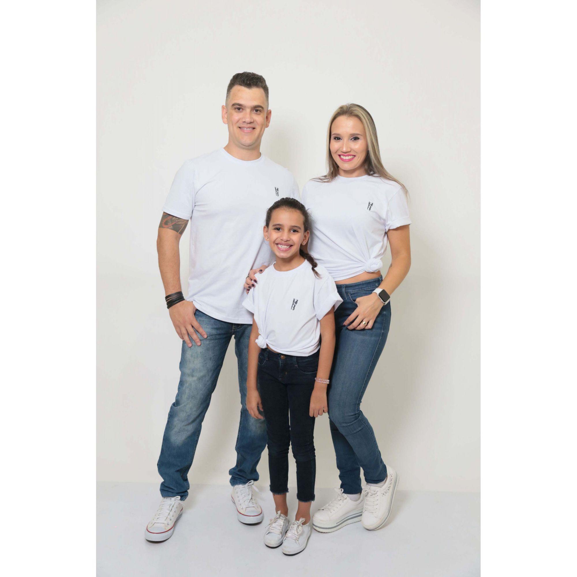 PAIS E FILHOS > Kit 3 Peças T-Shirt - Branca - Unissex [Coleção Família]